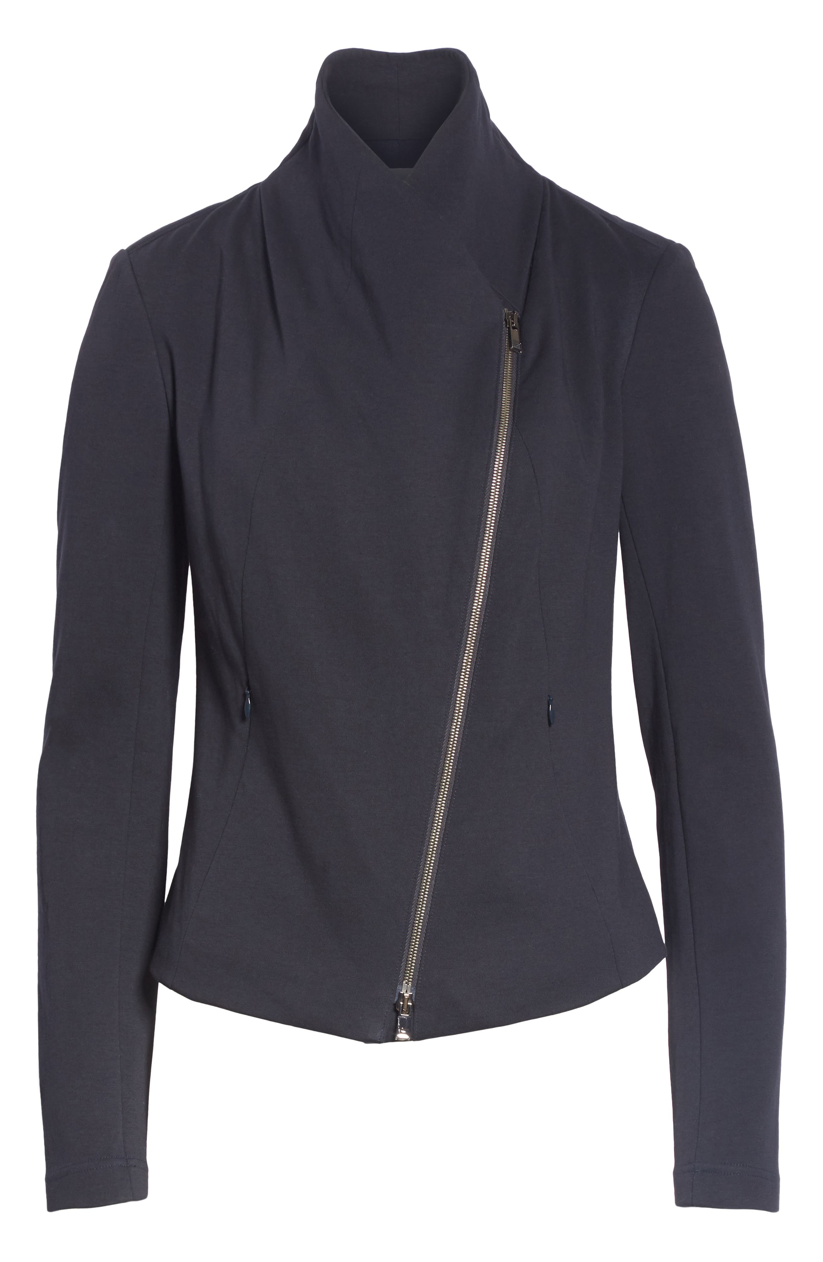 High Collar Fitted Jacket,                             Alternate thumbnail 5, color,                             410