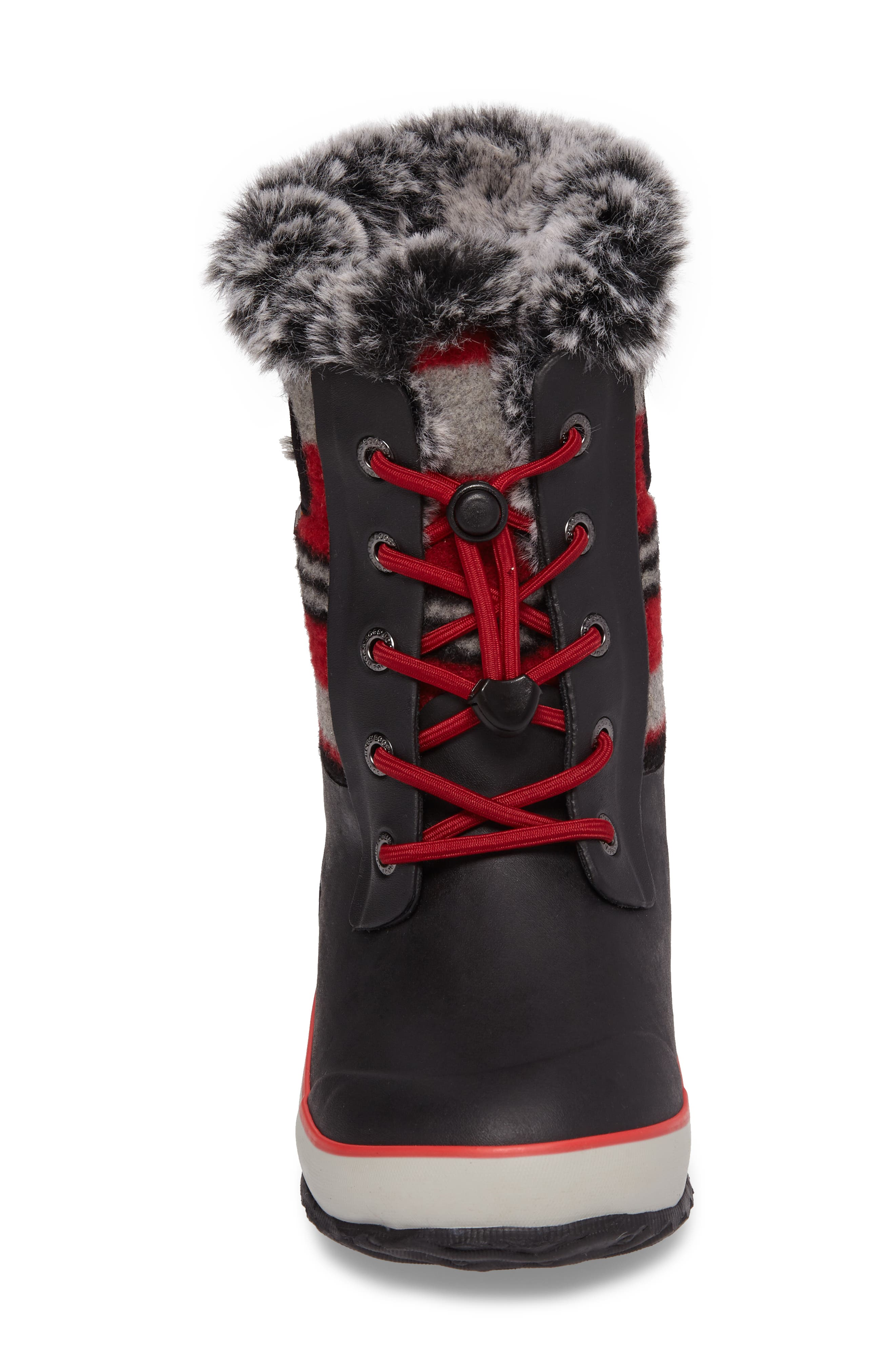 Arcata Stripe Waterproof Insulated Faux Fur Boot,                             Alternate thumbnail 12, color,