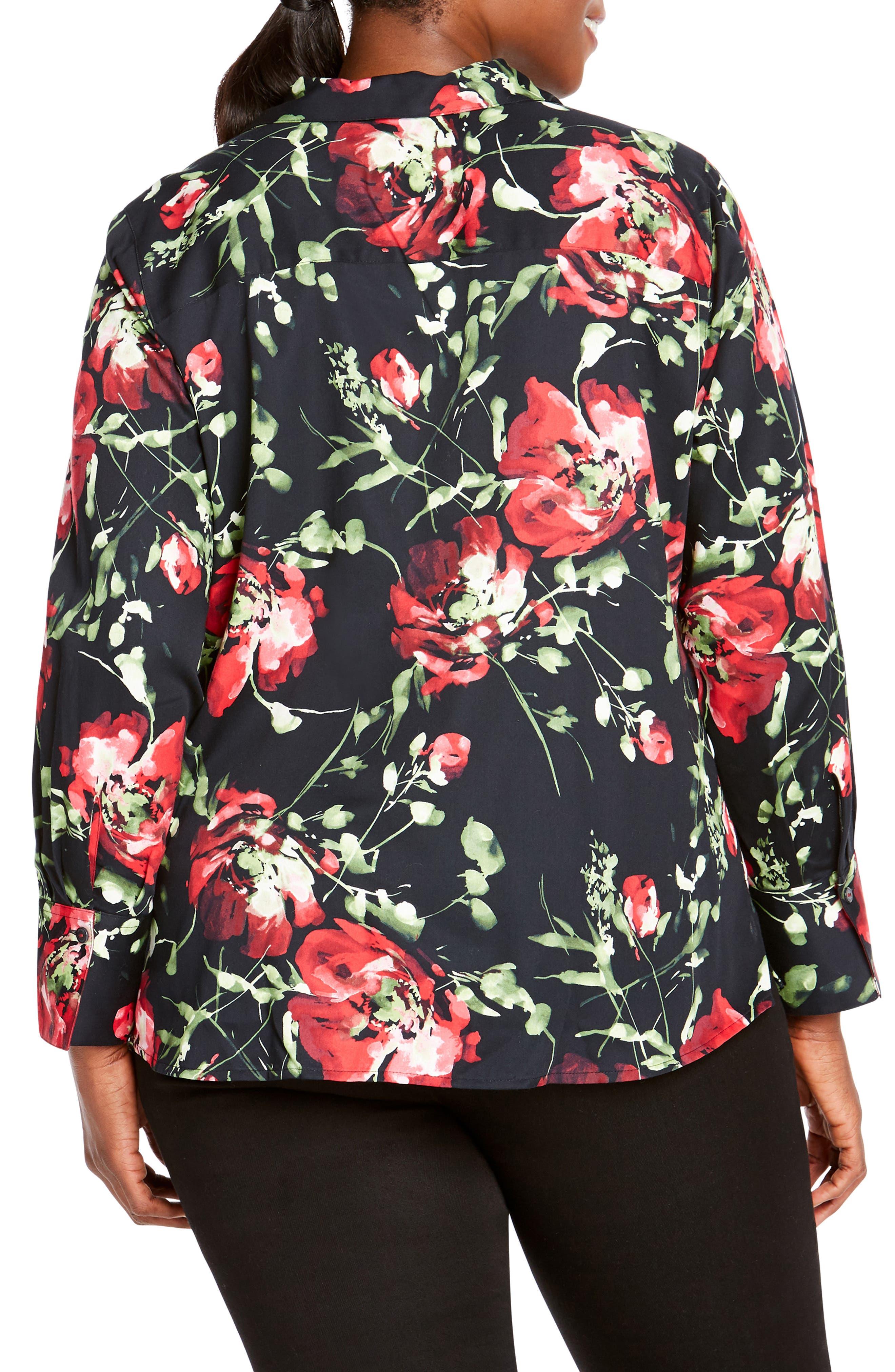 Rhonda in Dreamy Floral Shirt,                             Alternate thumbnail 2, color,                             MULTI