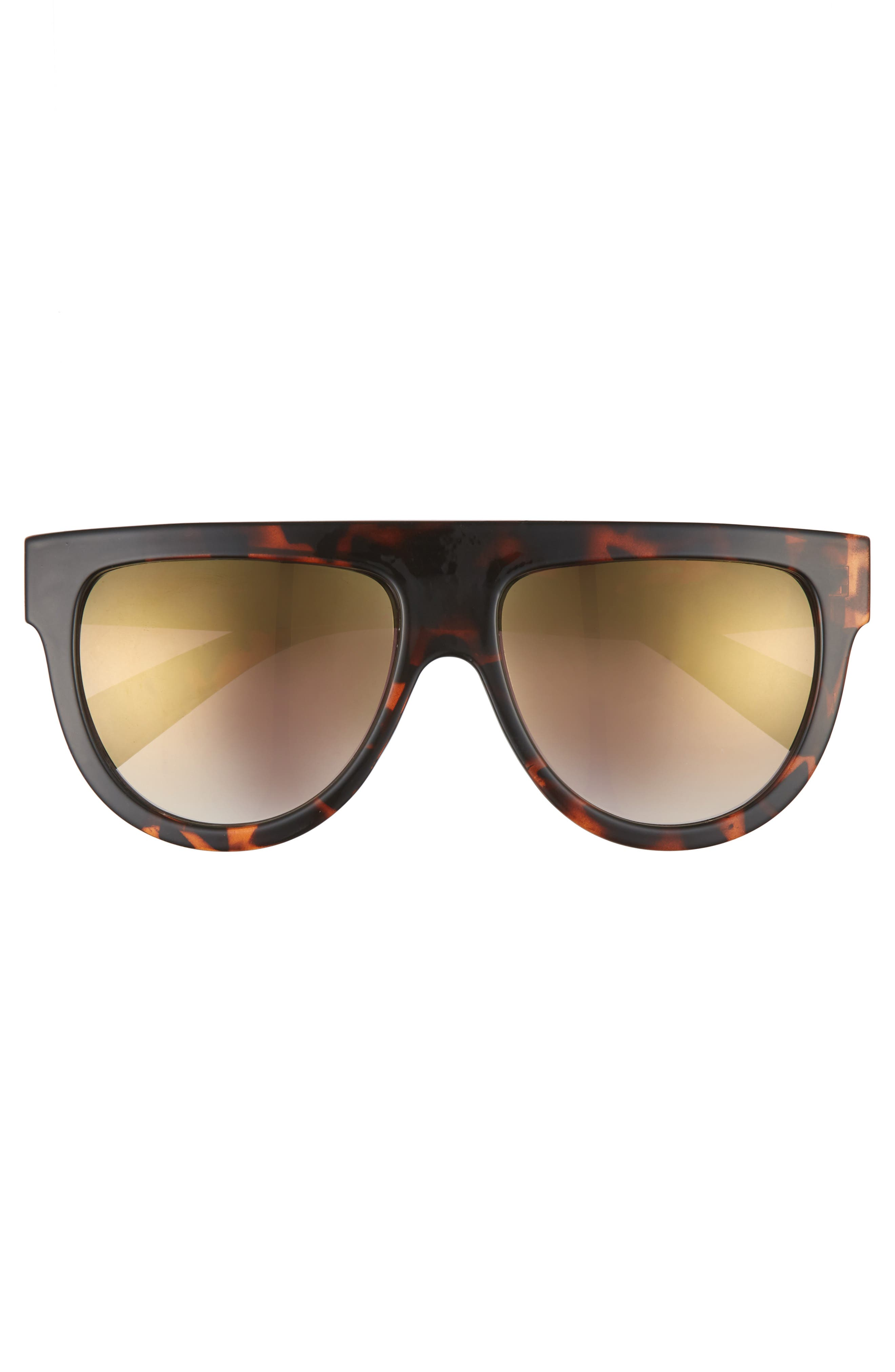 68mm Flat Top Sunglasses,                             Alternate thumbnail 5, color,