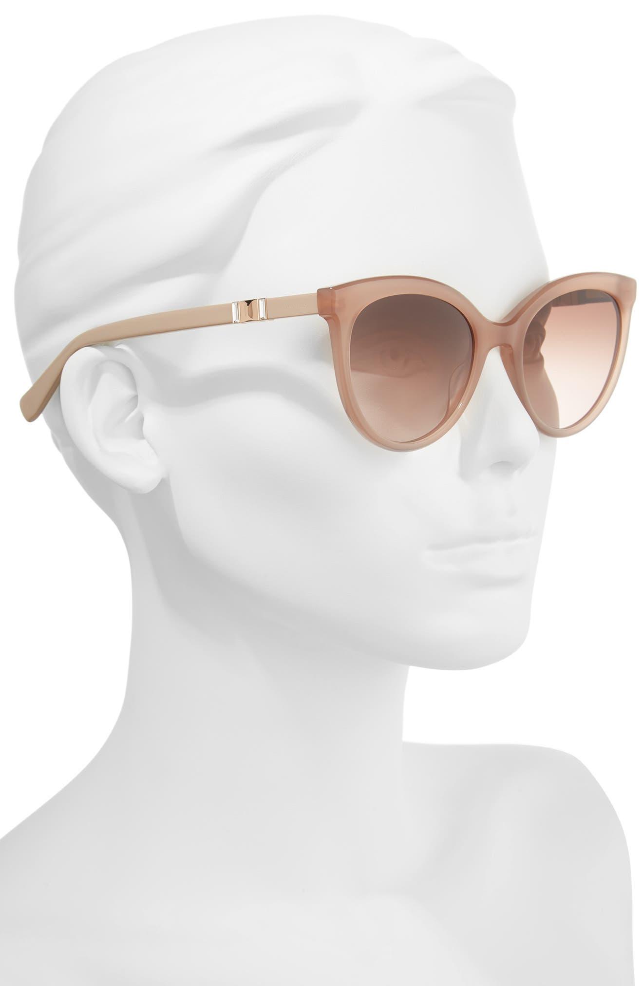 Jeweliis 54mm Gradient Cat Eye Sunglasses,                             Alternate thumbnail 2, color,                             NUDE
