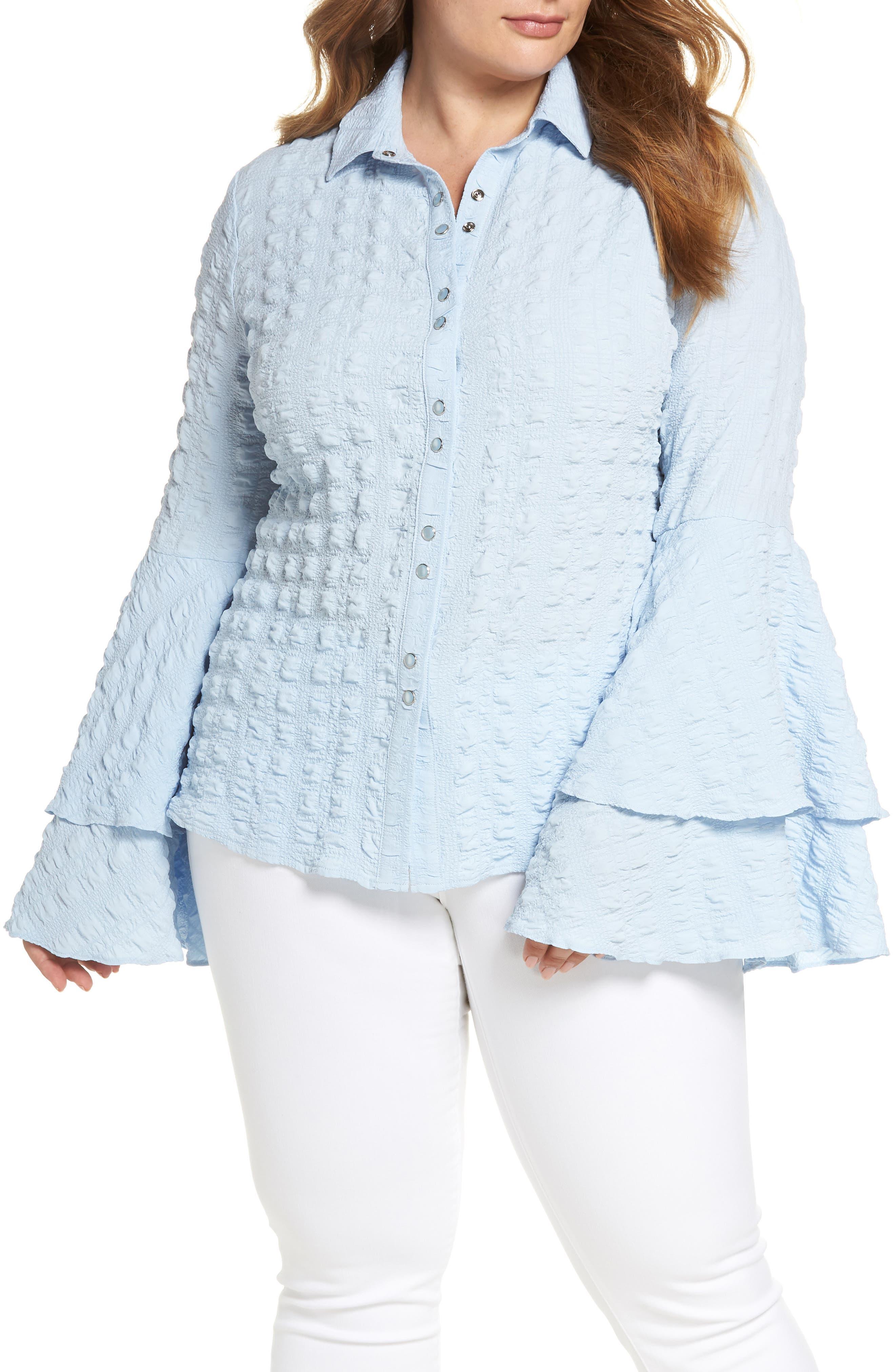 The Tuva Bell Sleeve Shirt,                             Main thumbnail 1, color,                             400