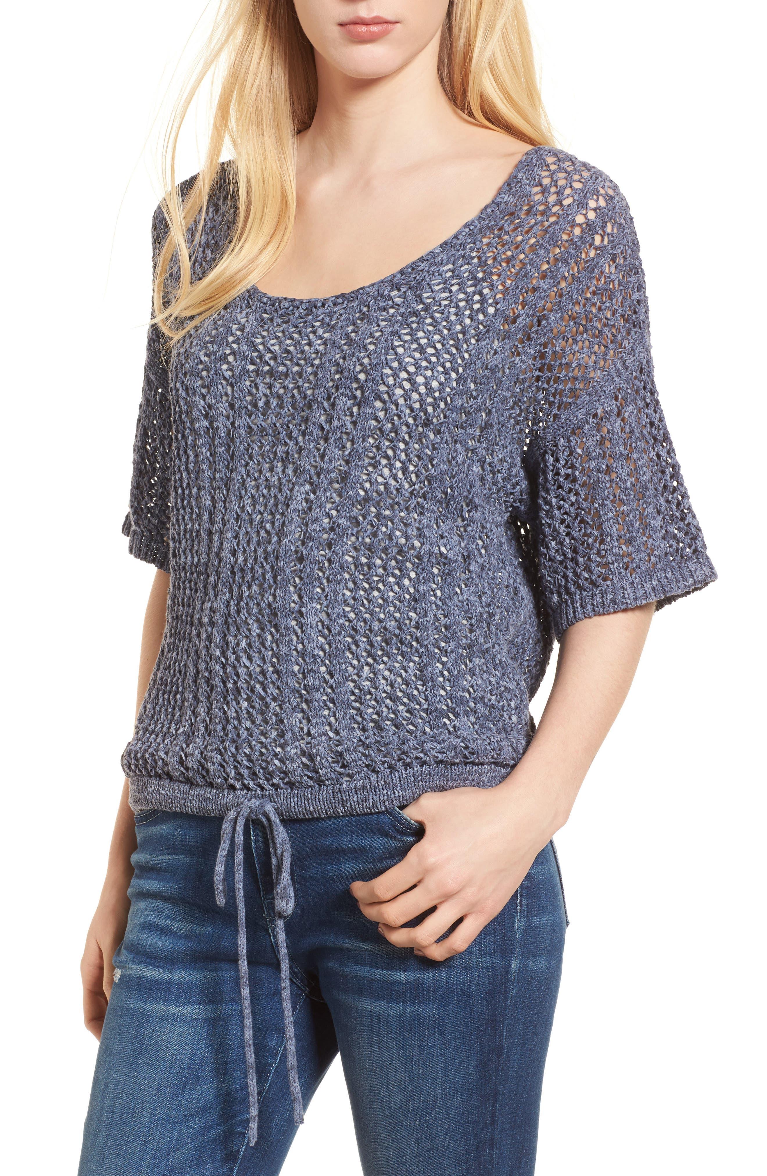 Knox Crochet Sweater,                             Main thumbnail 1, color,