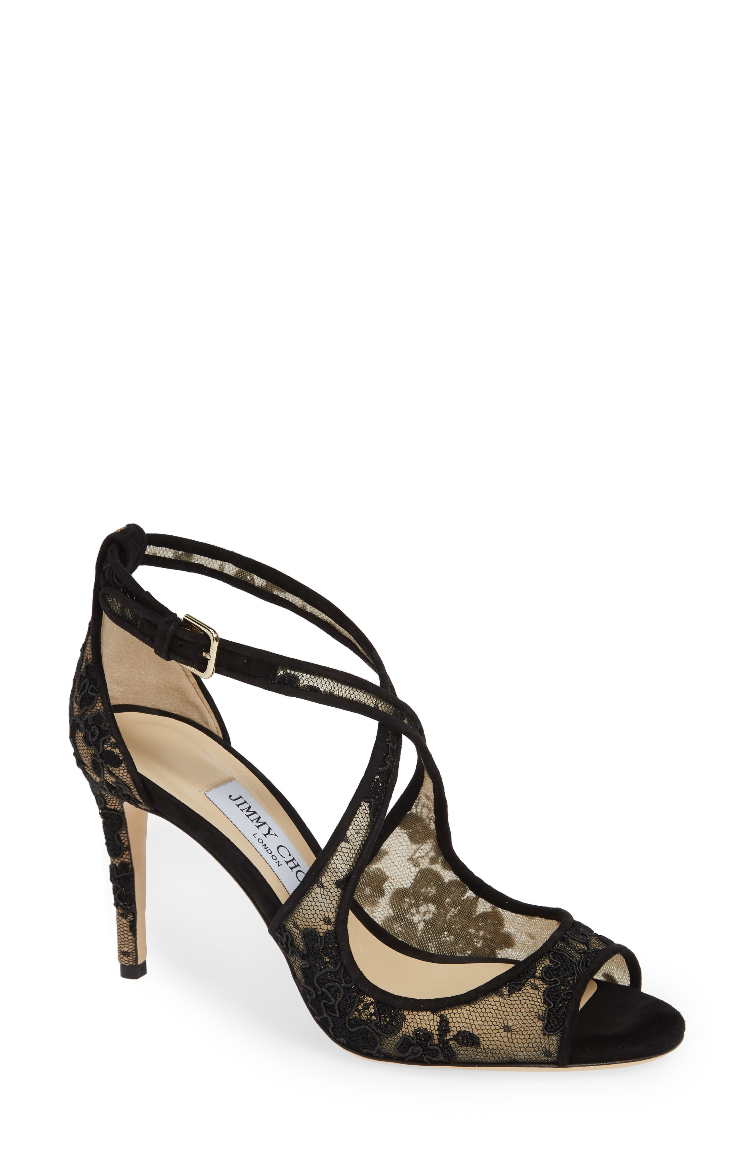 Emily Crisscross Sandal, Main, color, BLACK