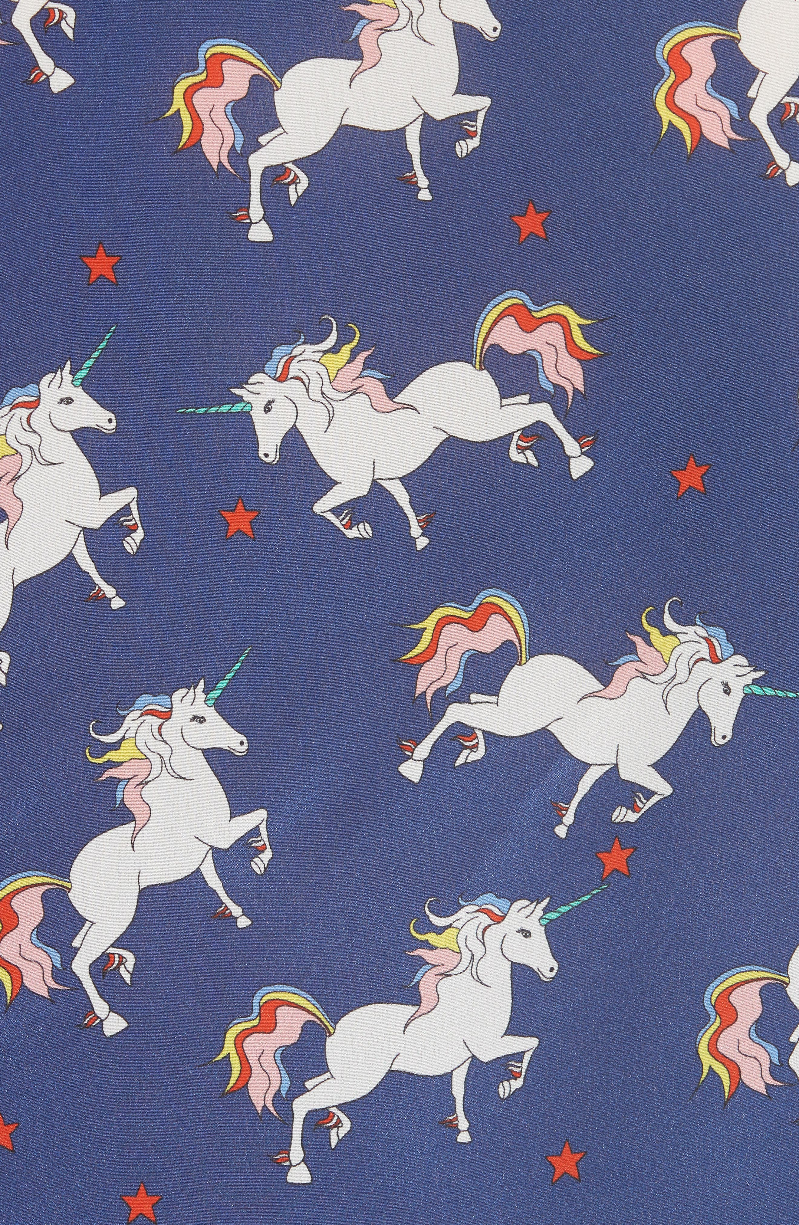 Laney Unicorn Flutter Sleeve Silk Blouse,                             Alternate thumbnail 5, color,                             416