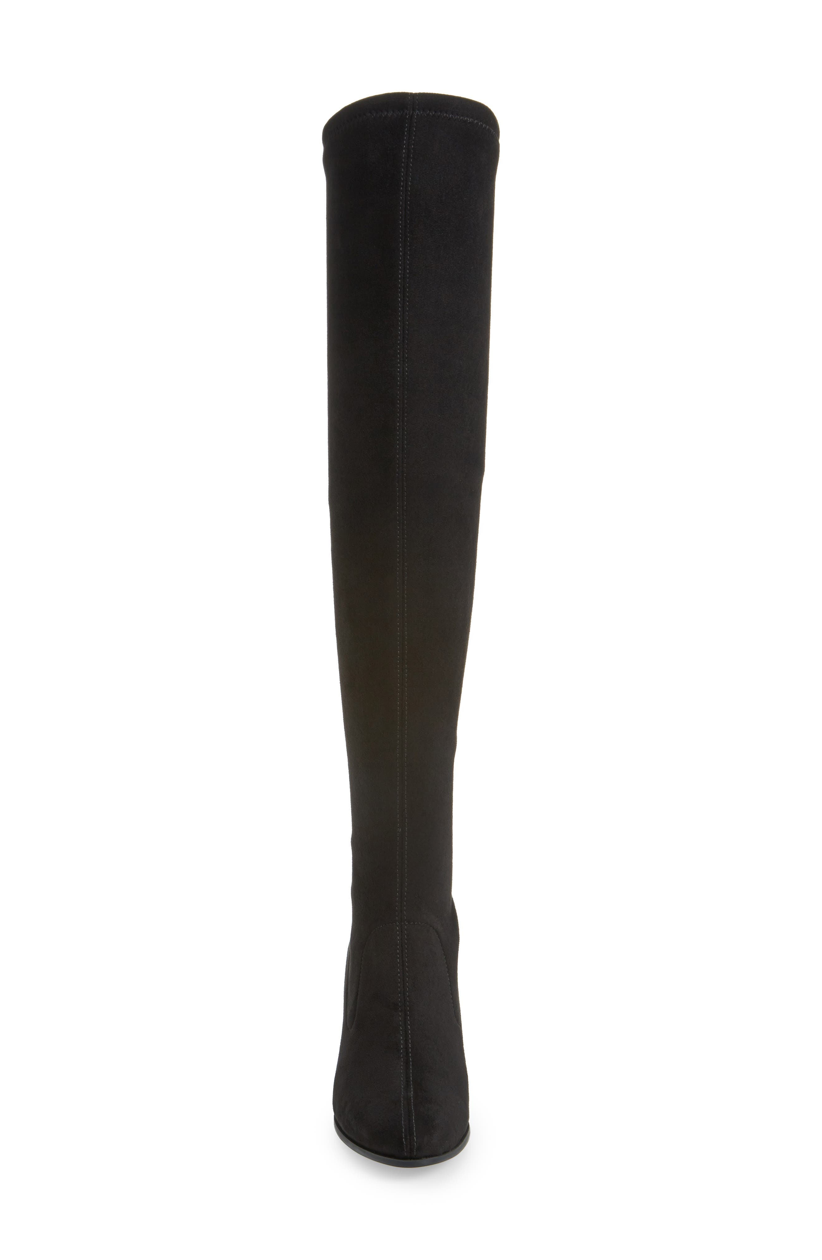 Melina Over the Knee Boot,                             Alternate thumbnail 4, color,                             BLACK LEATHER