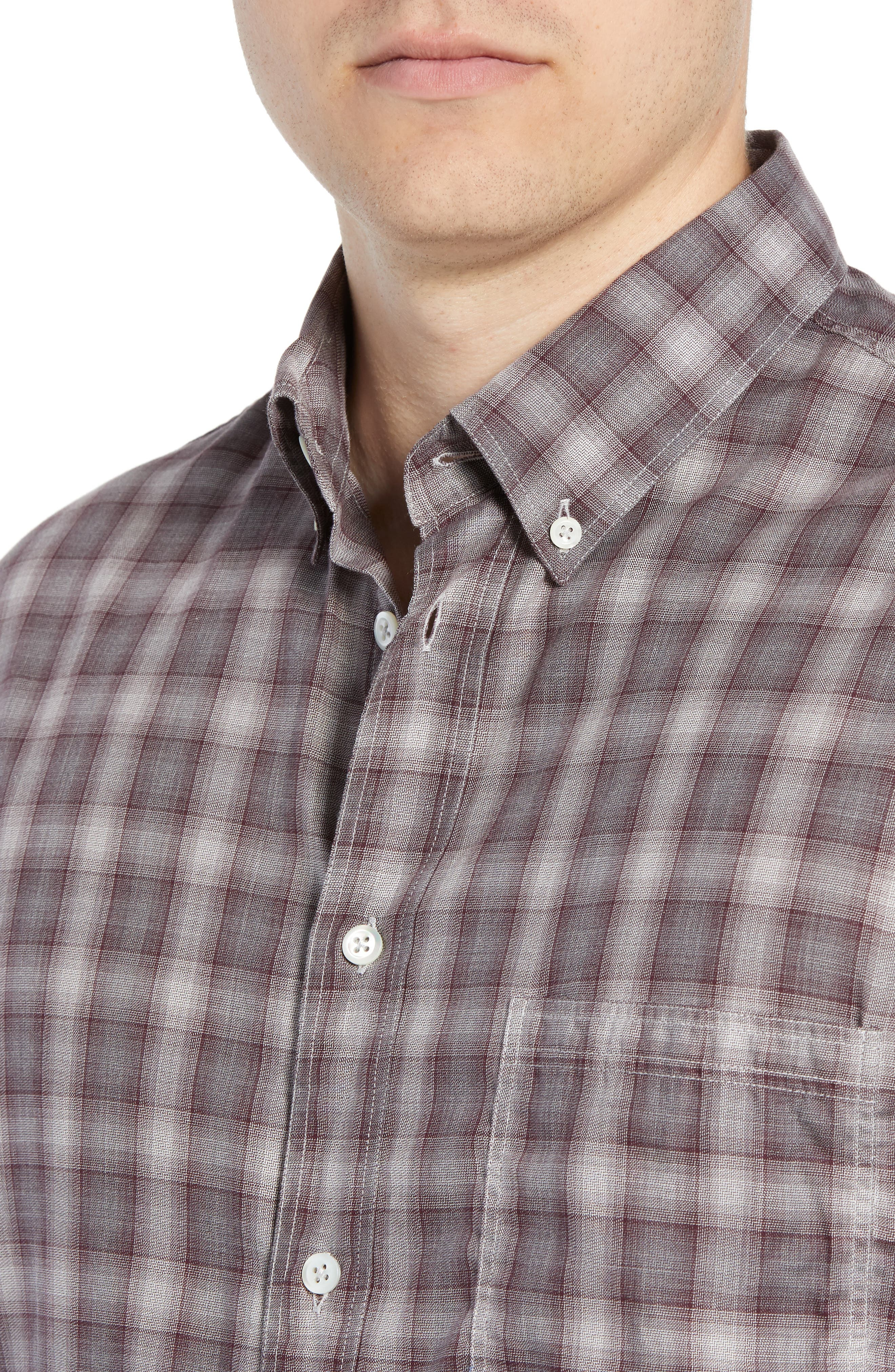 Tuscumbia Regular Fit Plaid Sport Shirt,                             Alternate thumbnail 2, color,                             930