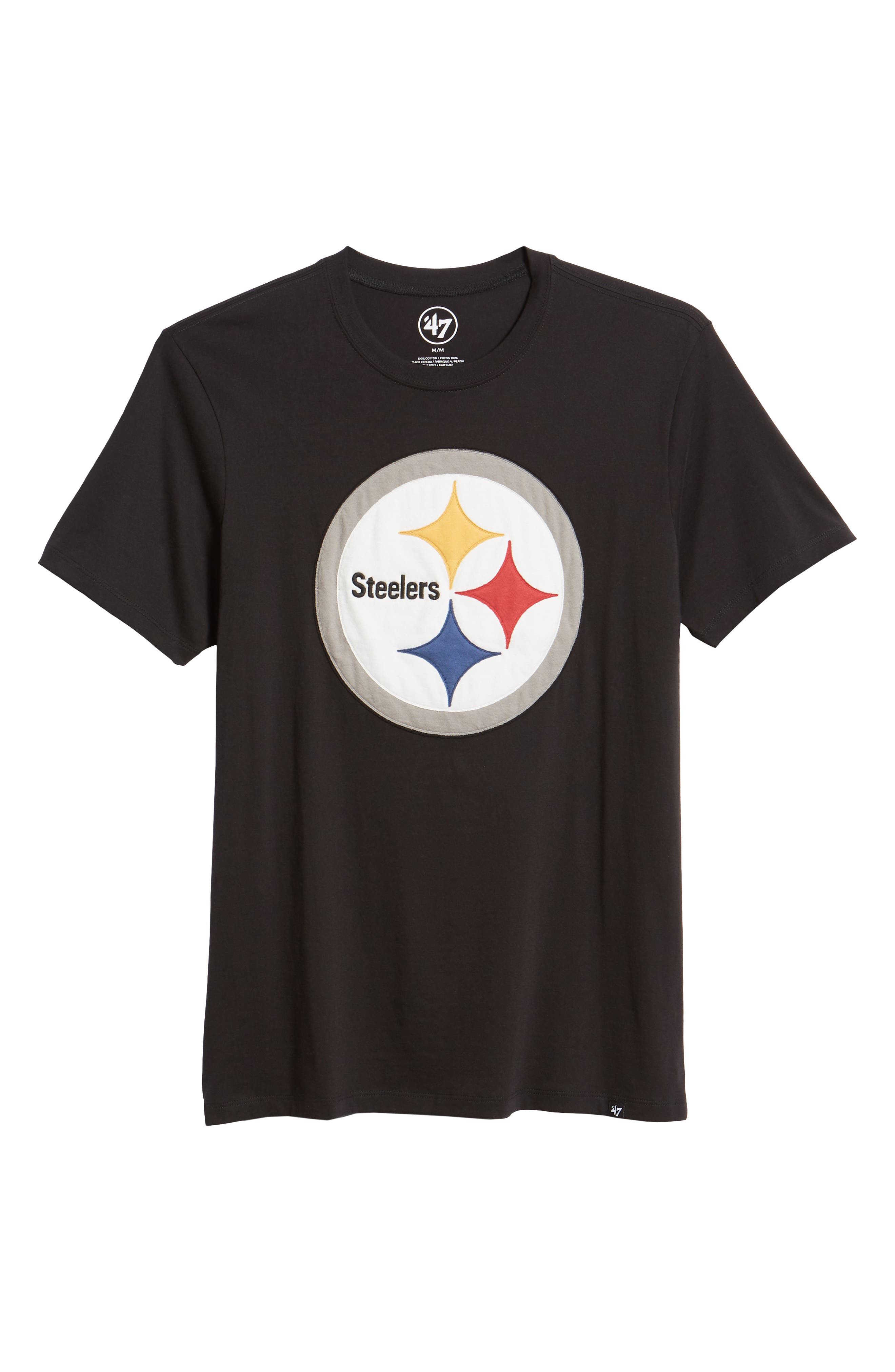 NFL Knockout Fieldhouse T-Shirt,                             Alternate thumbnail 6, color,                             PITTSBURGH STEELERS