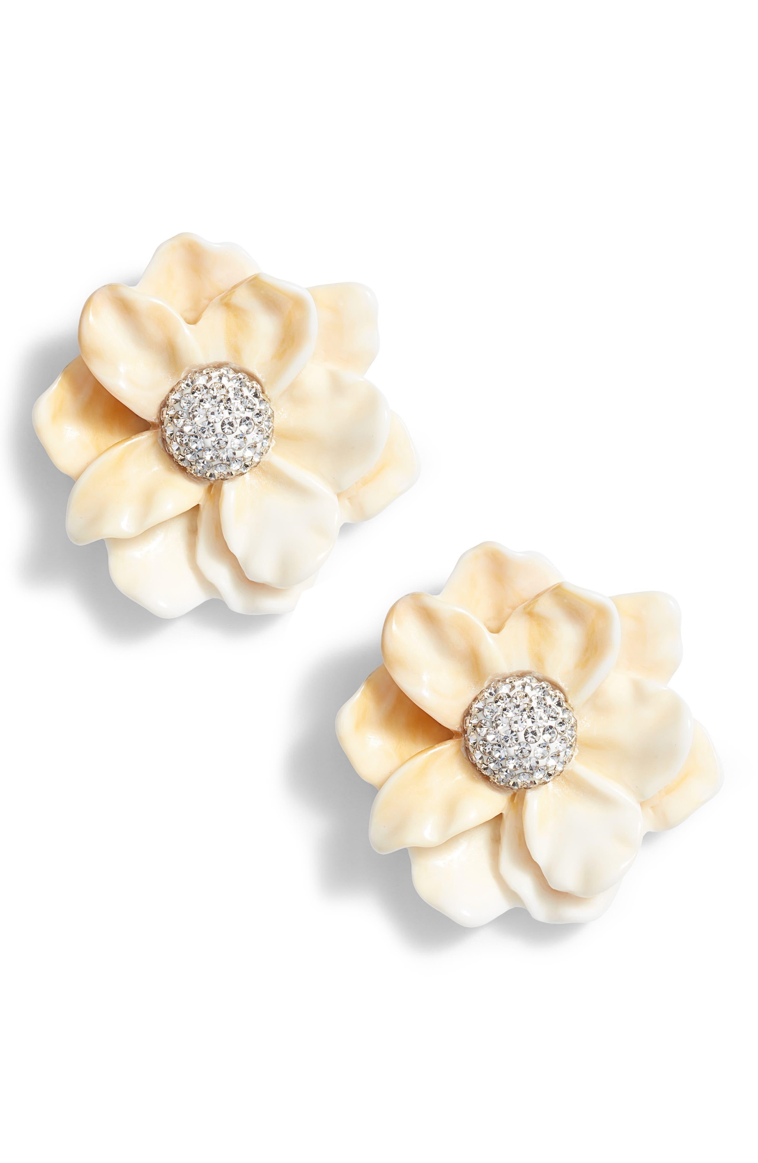 LELE SADOUGHI Oversized Gardenia Stud Earrings, Main, color, 900