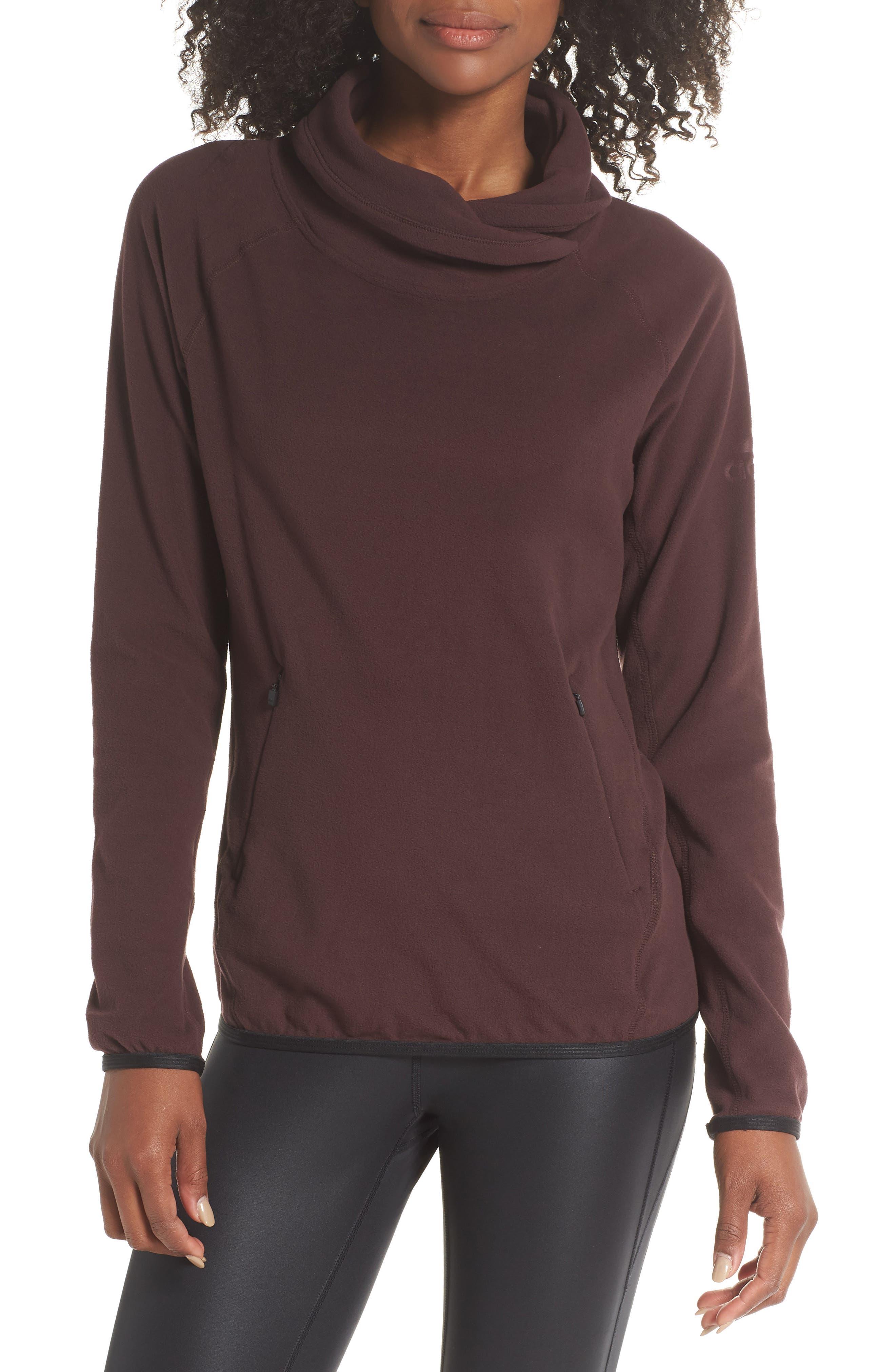 Adidas Originals Cowl Fleece Pullover, Red