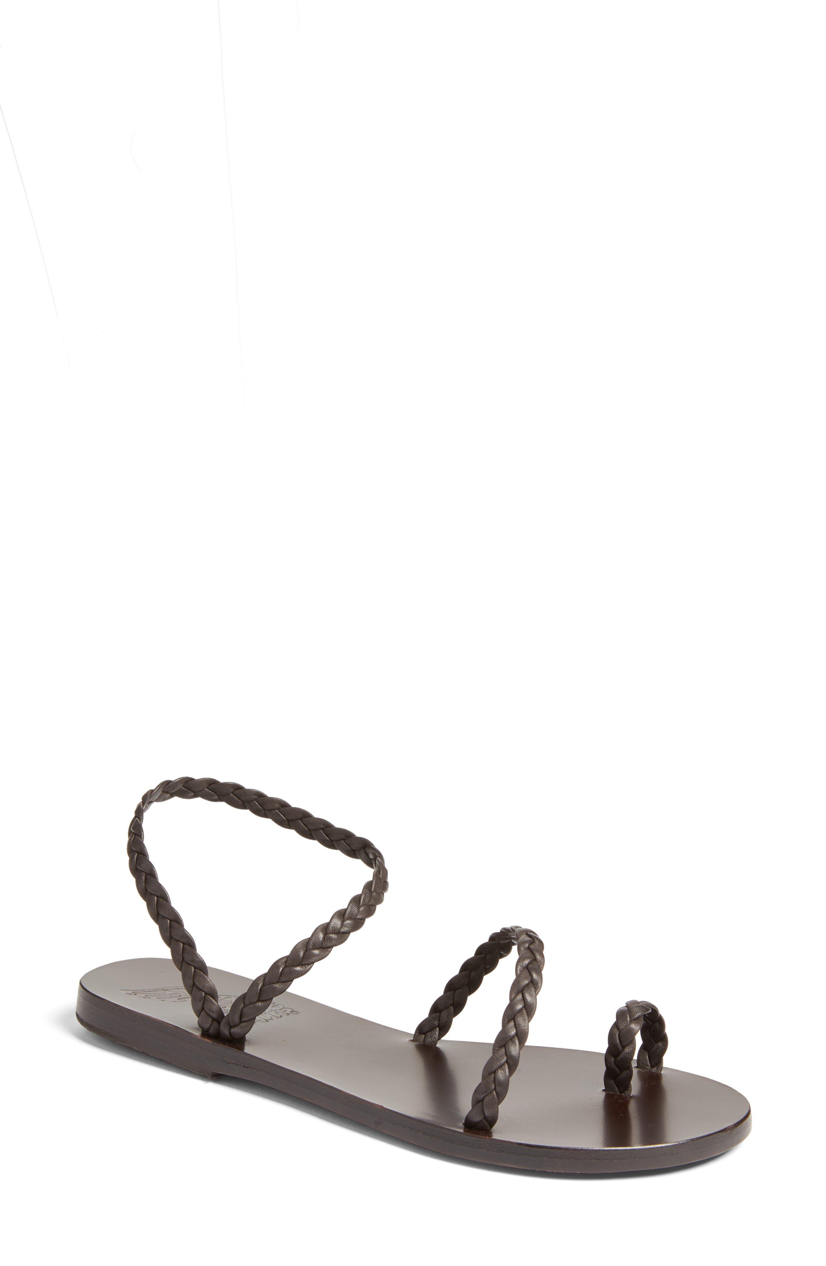 Eleftheria Sandal,                         Main,                         color, BLACK