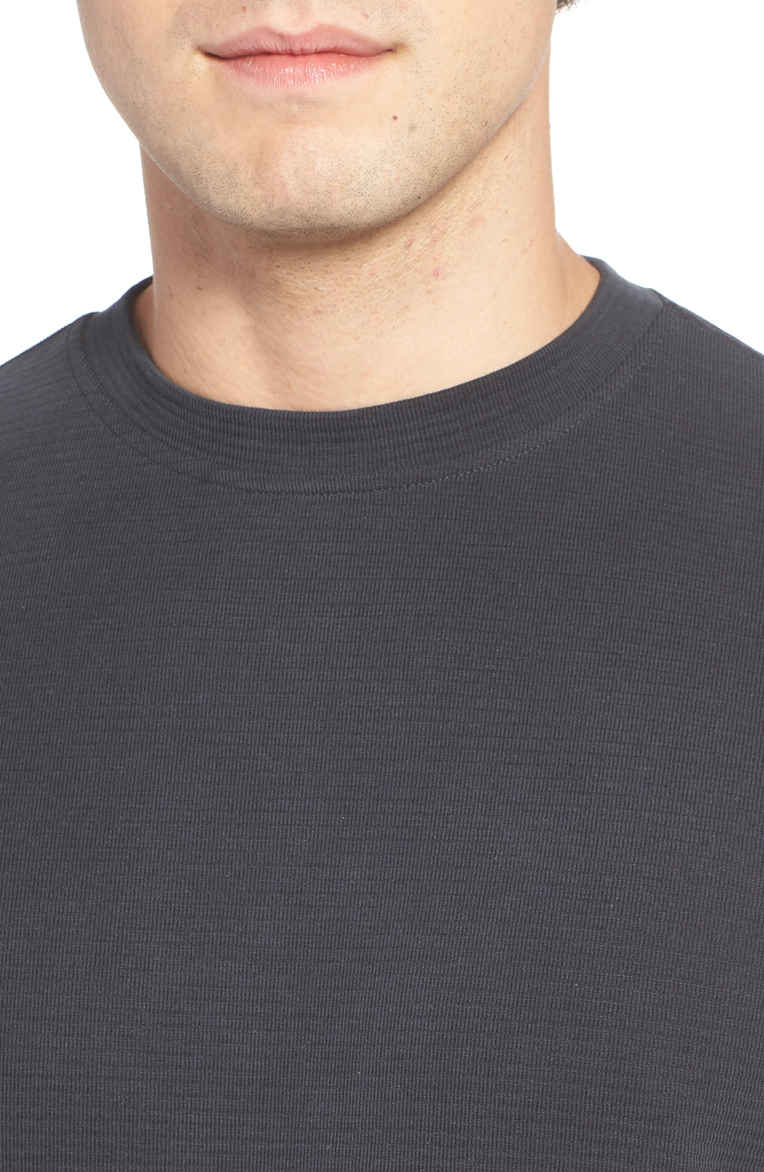 Crewneck T-Shirt,                             Alternate thumbnail 4, color,                             001