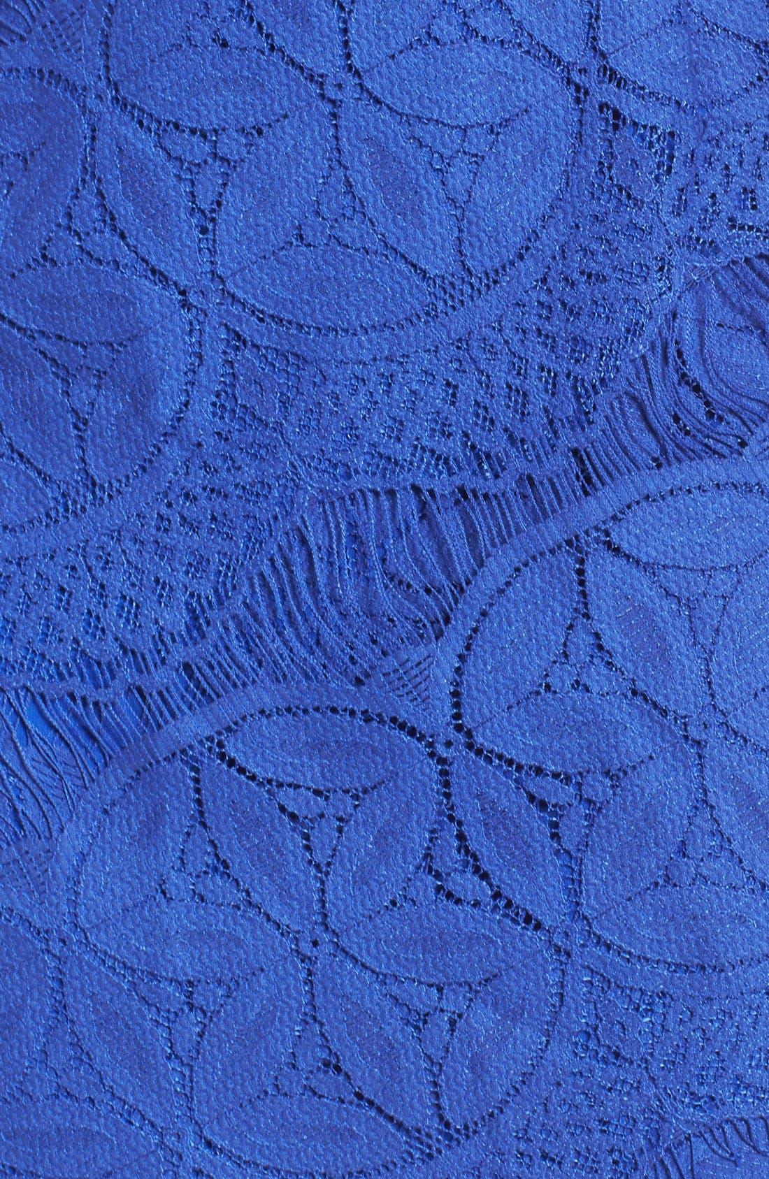 Lace High/Low Sheath Dress,                             Alternate thumbnail 45, color,