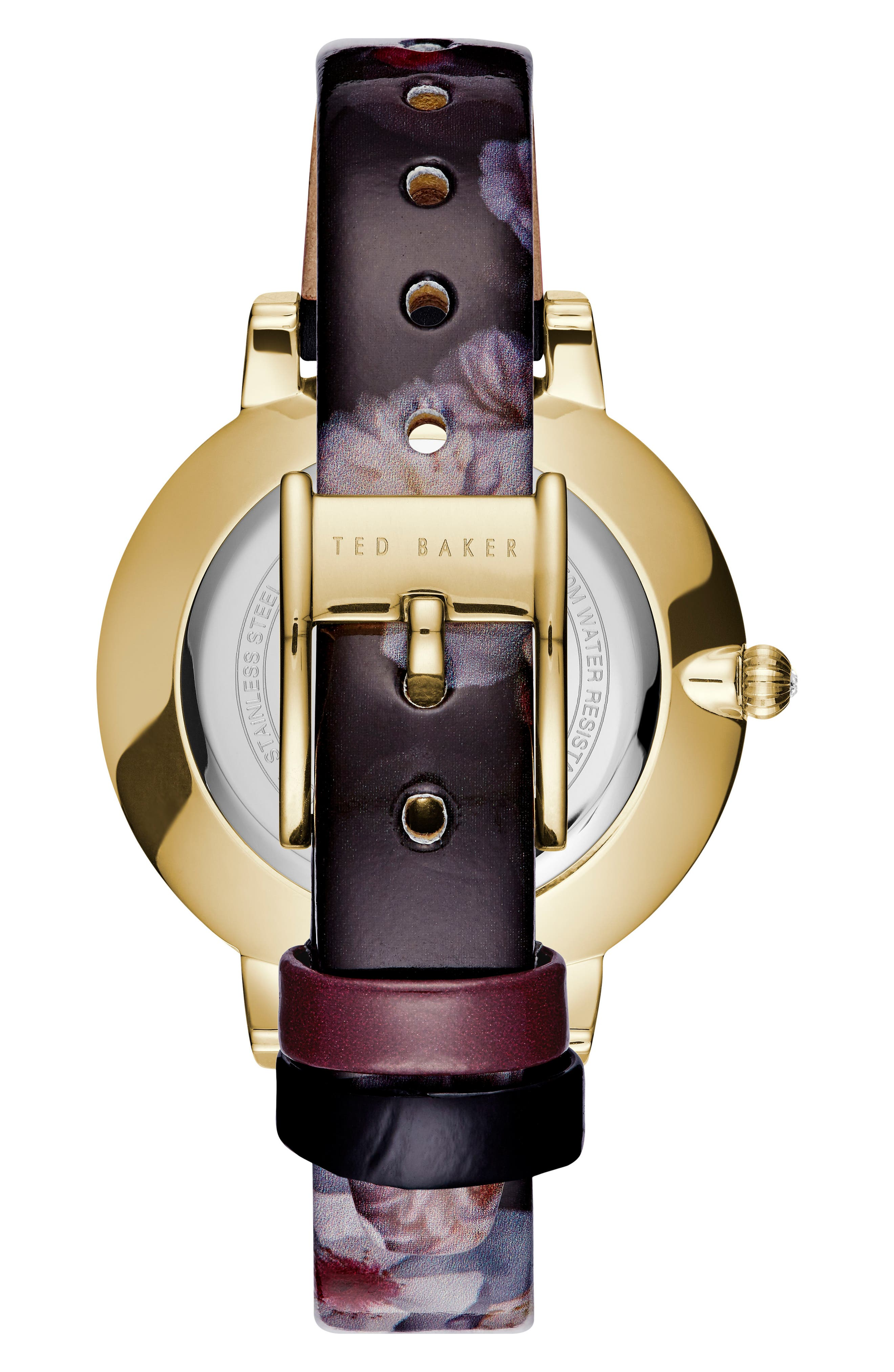 Kate Print Leather Strap Watch, 38mm,                             Alternate thumbnail 2, color,                             500
