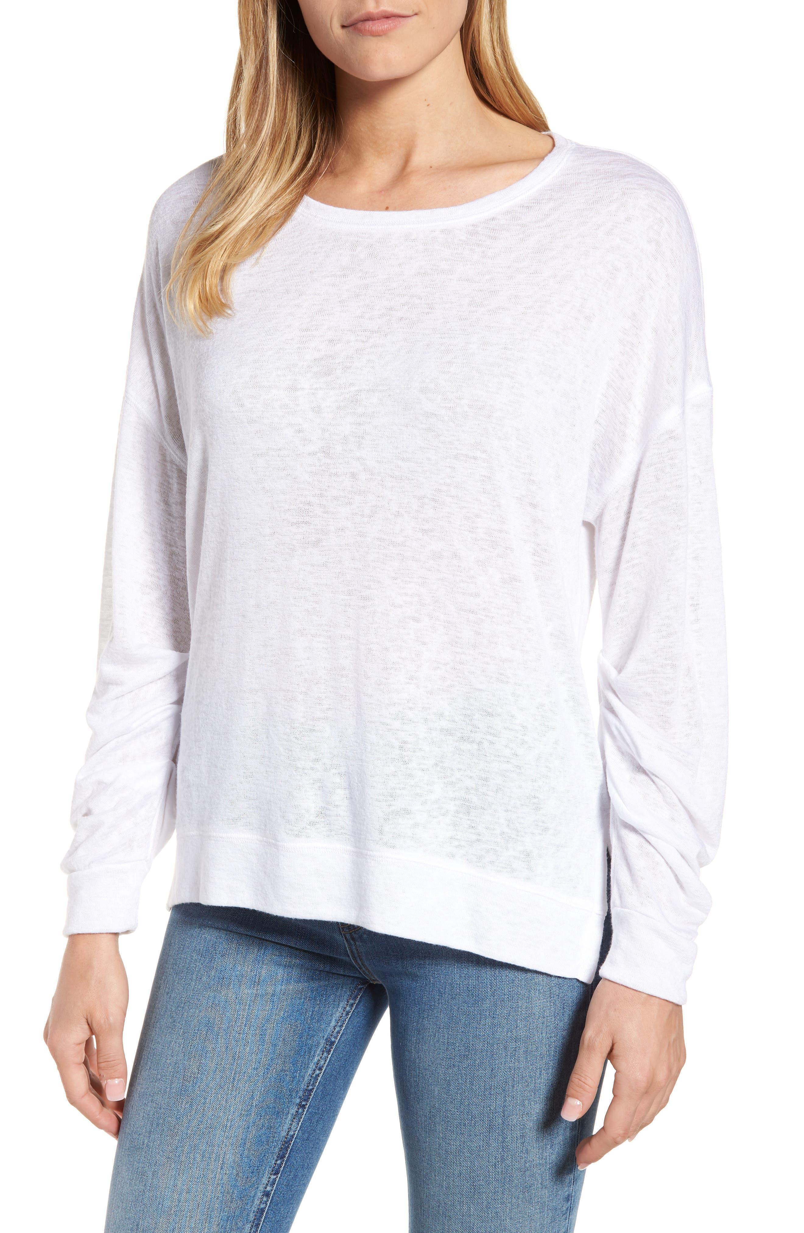 Tuck Sleeve Sweatshirt,                             Main thumbnail 3, color,