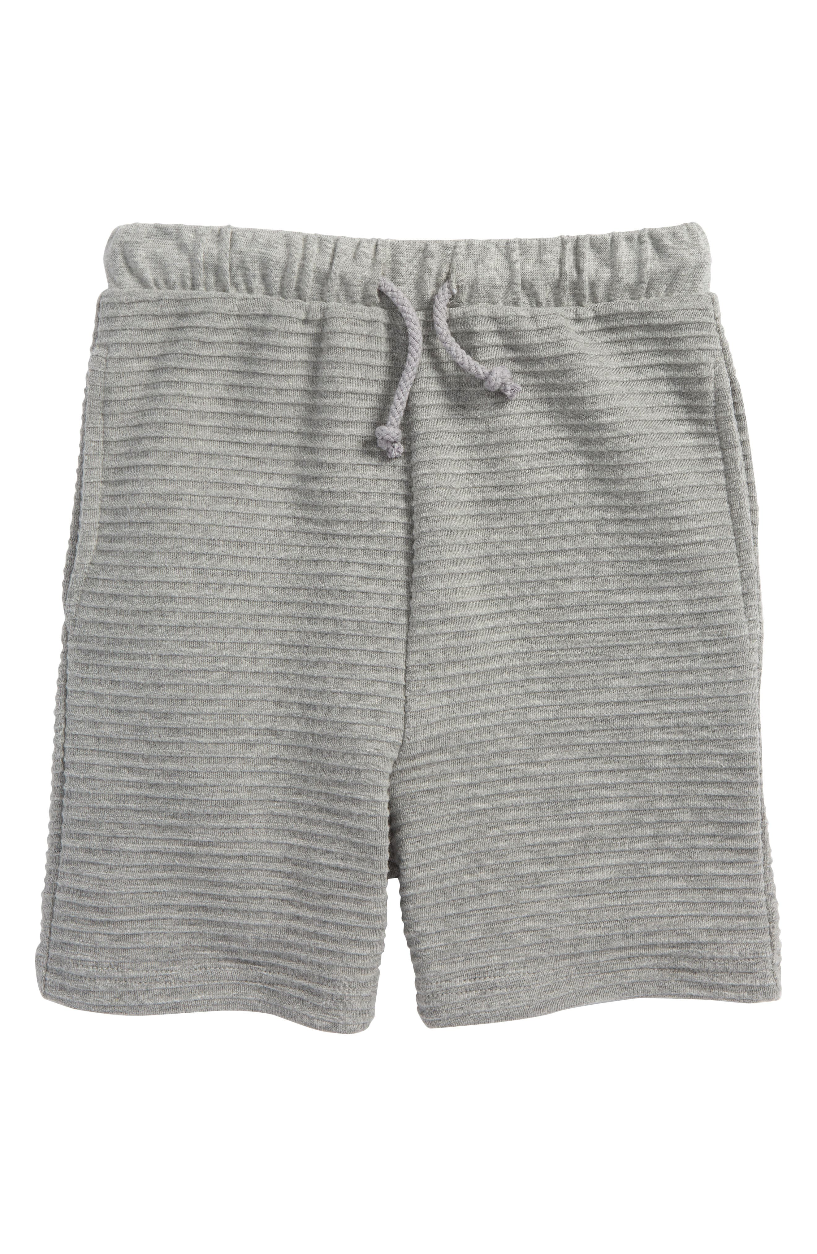 Freddie Knit Shorts,                         Main,                         color, GREY MELANGE