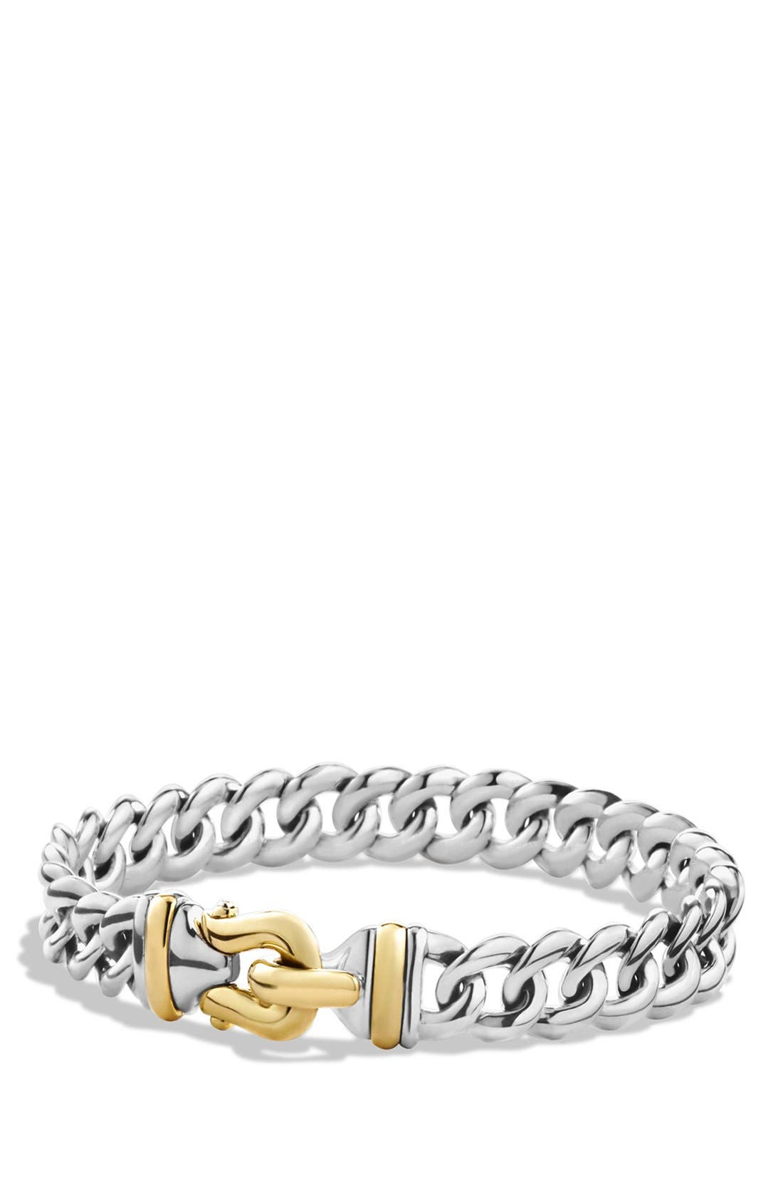 'Buckle' Single-Row Bracelet with Gold,                             Main thumbnail 1, color,                             TWO TONE