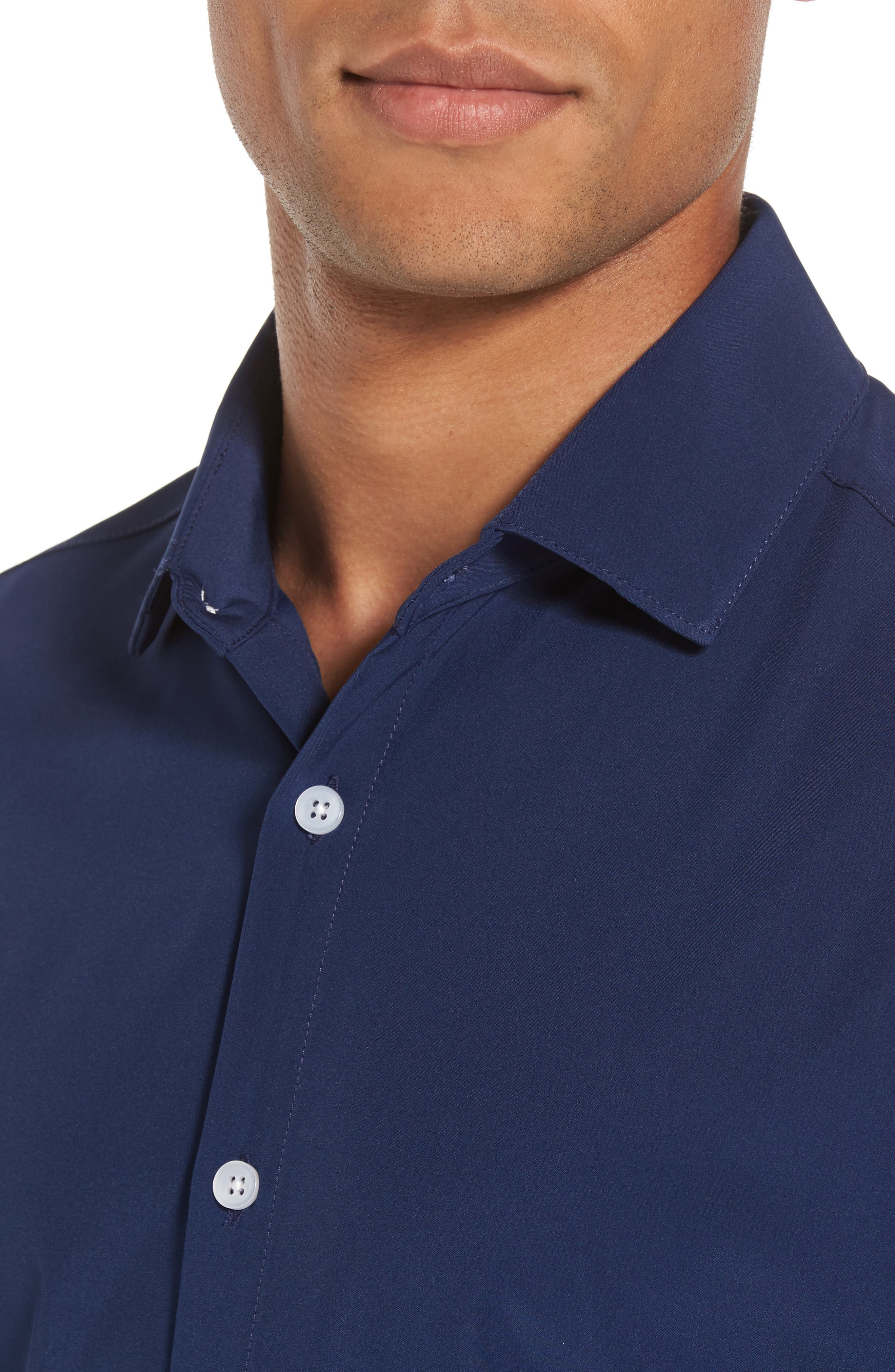 Dillon Slim Fit Performance Sport Shirt,                             Alternate thumbnail 4, color,
