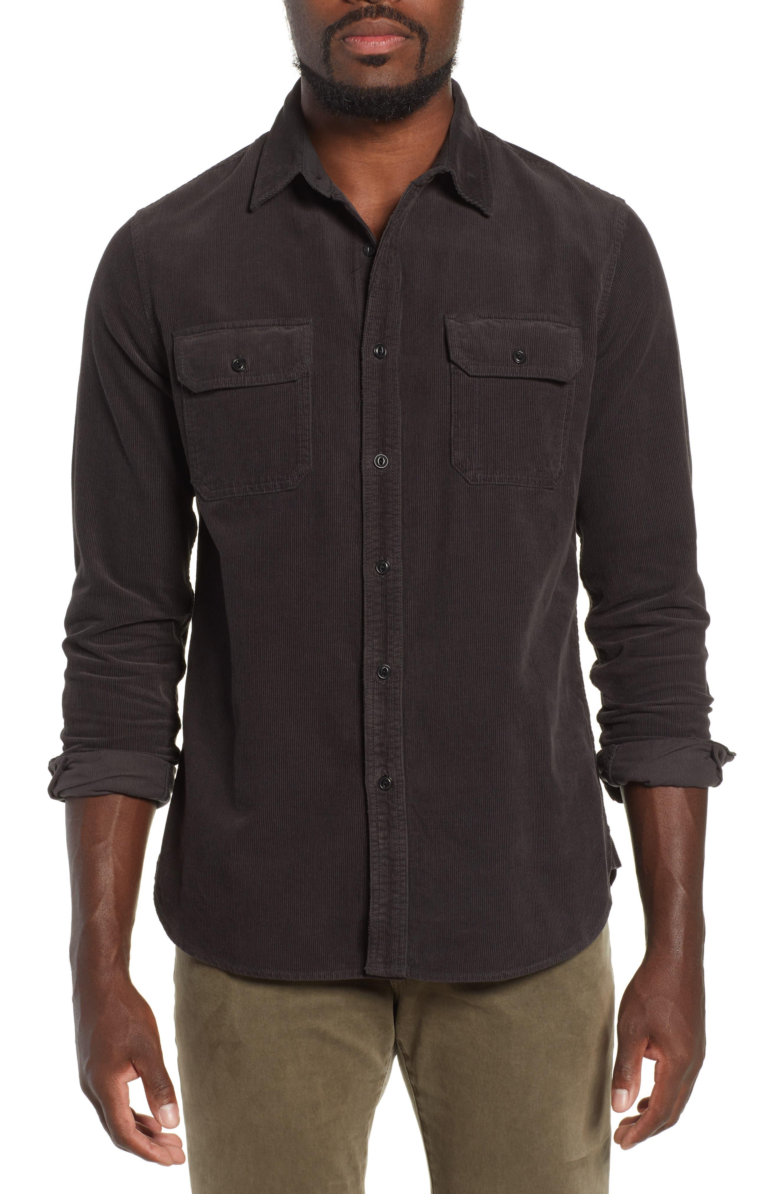 Benning Slim Fit Utility Shirt,                             Main thumbnail 1, color,                             GRAY STONE