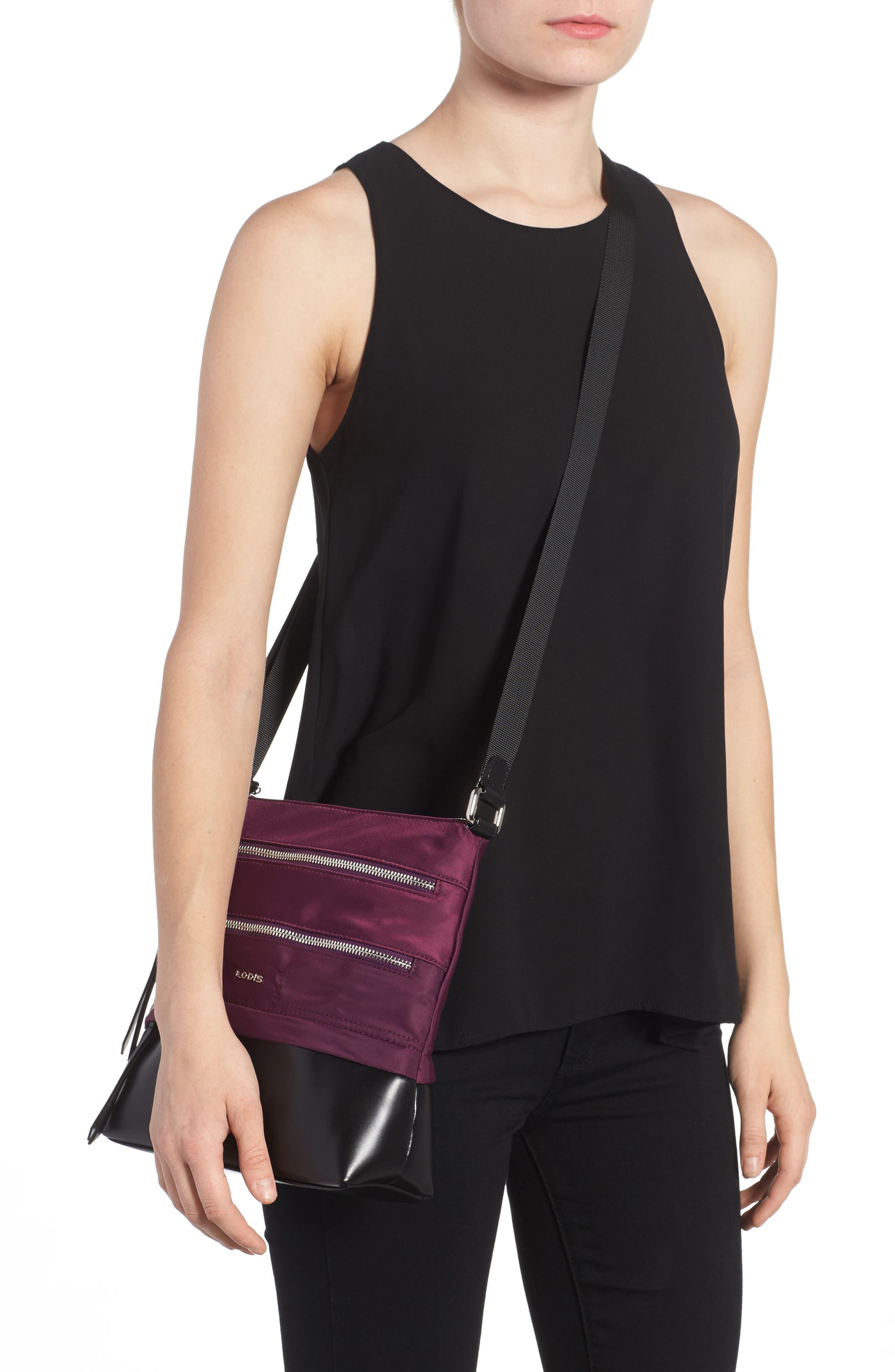 Wanda RFID Nylon & Leather Crossbody Bag,                             Alternate thumbnail 2, color,                             500