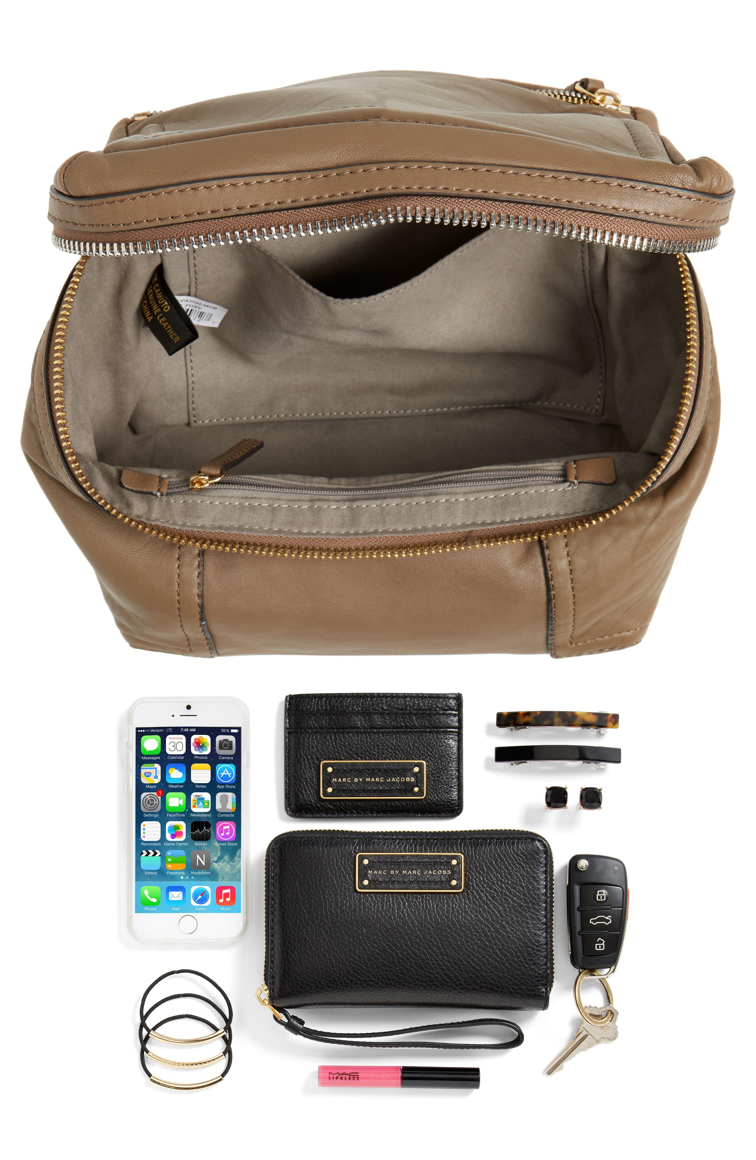 Medium Patch Leather Crossbody Bag,                             Alternate thumbnail 14, color,