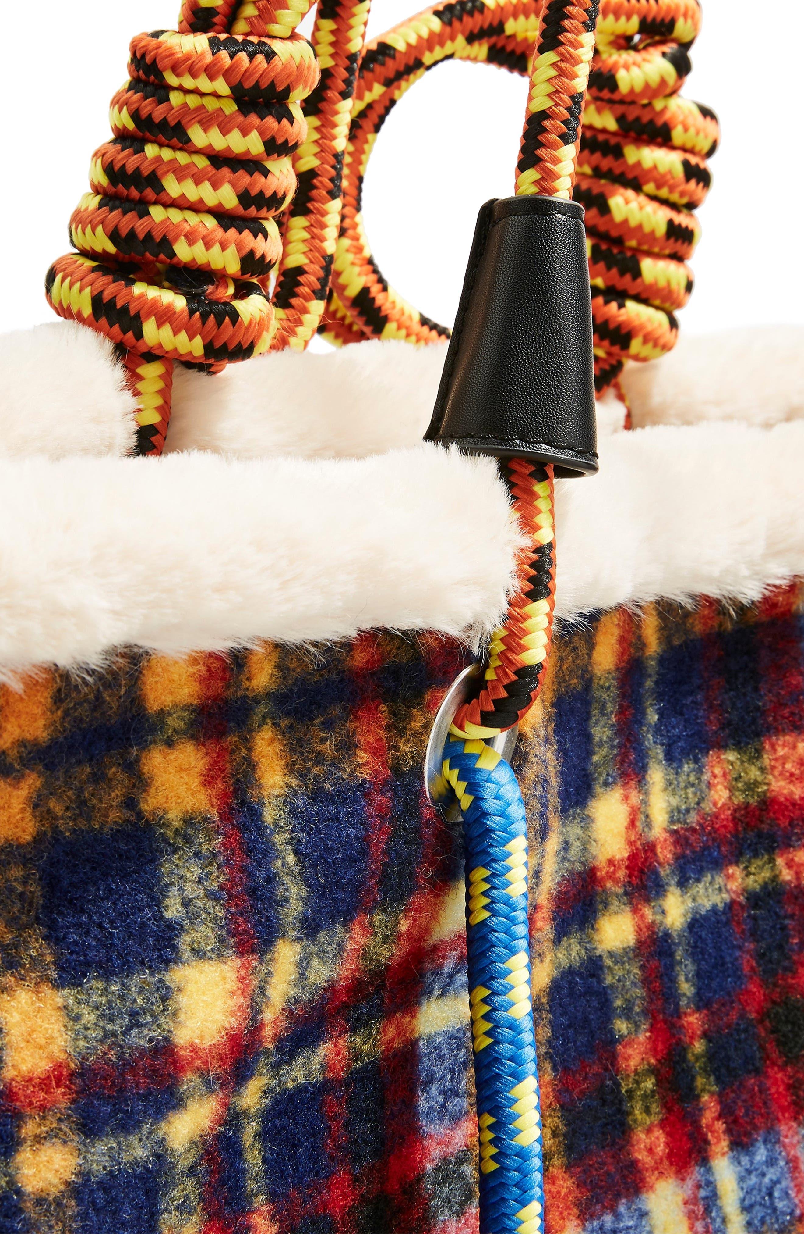 Blanket Rope Tote Bag,                             Alternate thumbnail 4, color,                             BLUE MULTI