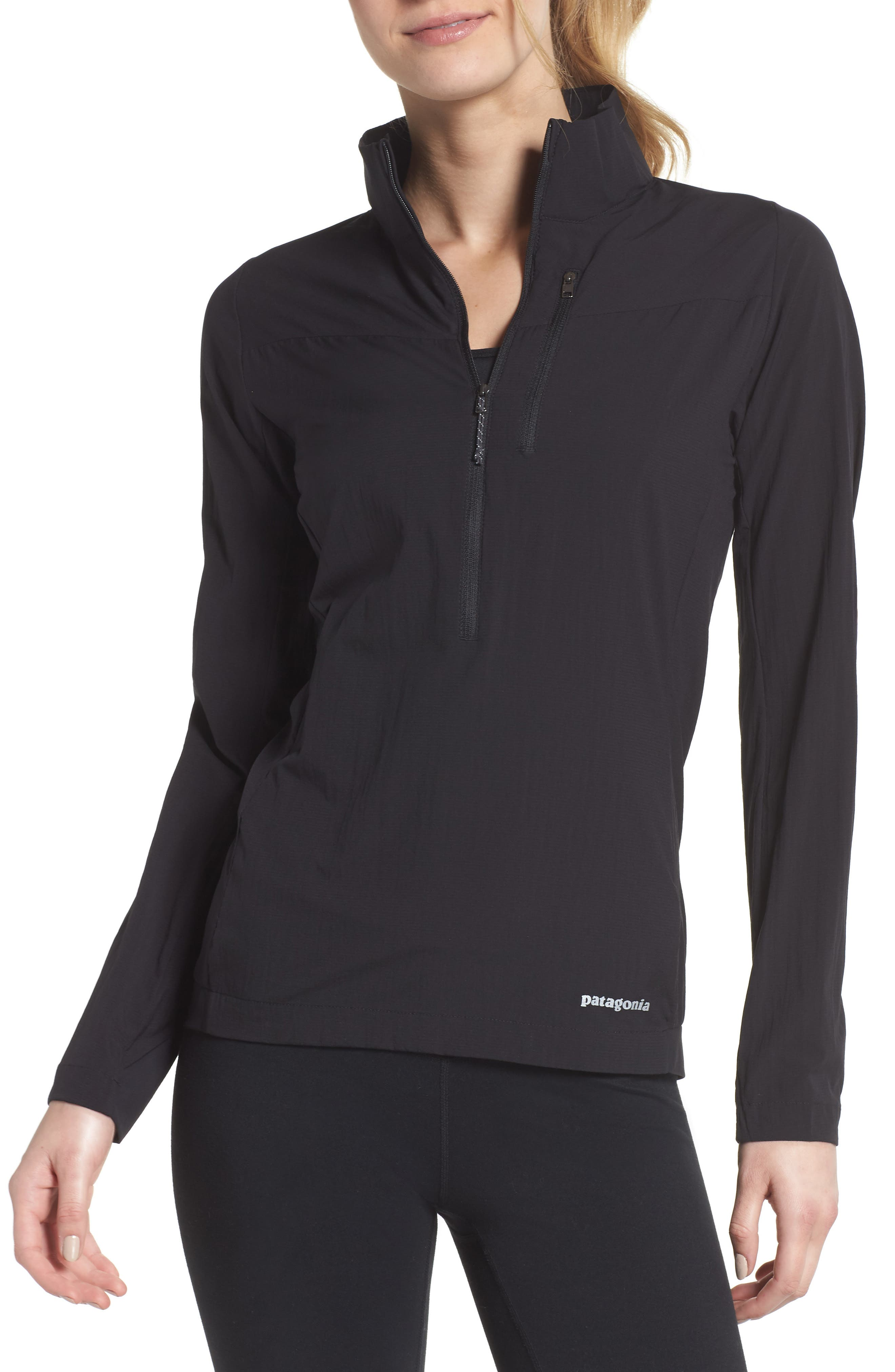 Airshed Pullover,                         Main,                         color, BLACK