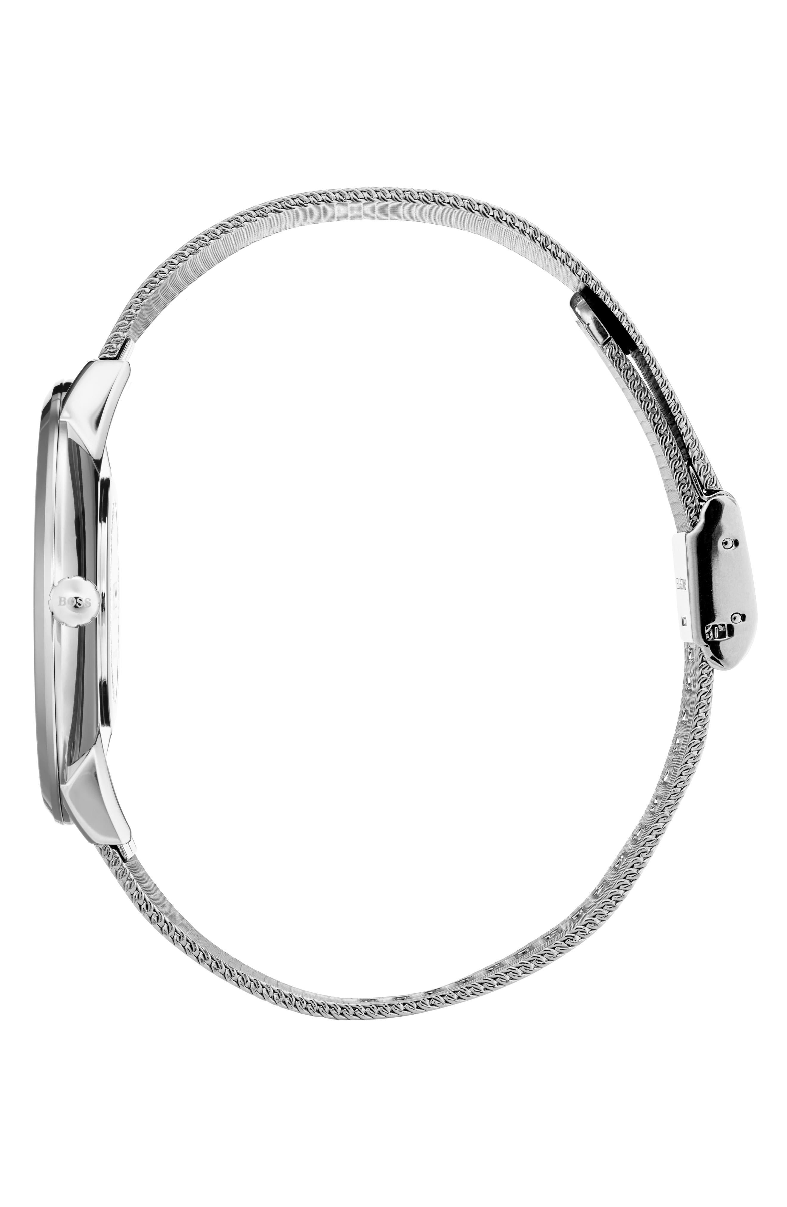 Essential Ultra Slim Bracelet Watch, 40mm,                             Alternate thumbnail 3, color,                             SILVER
