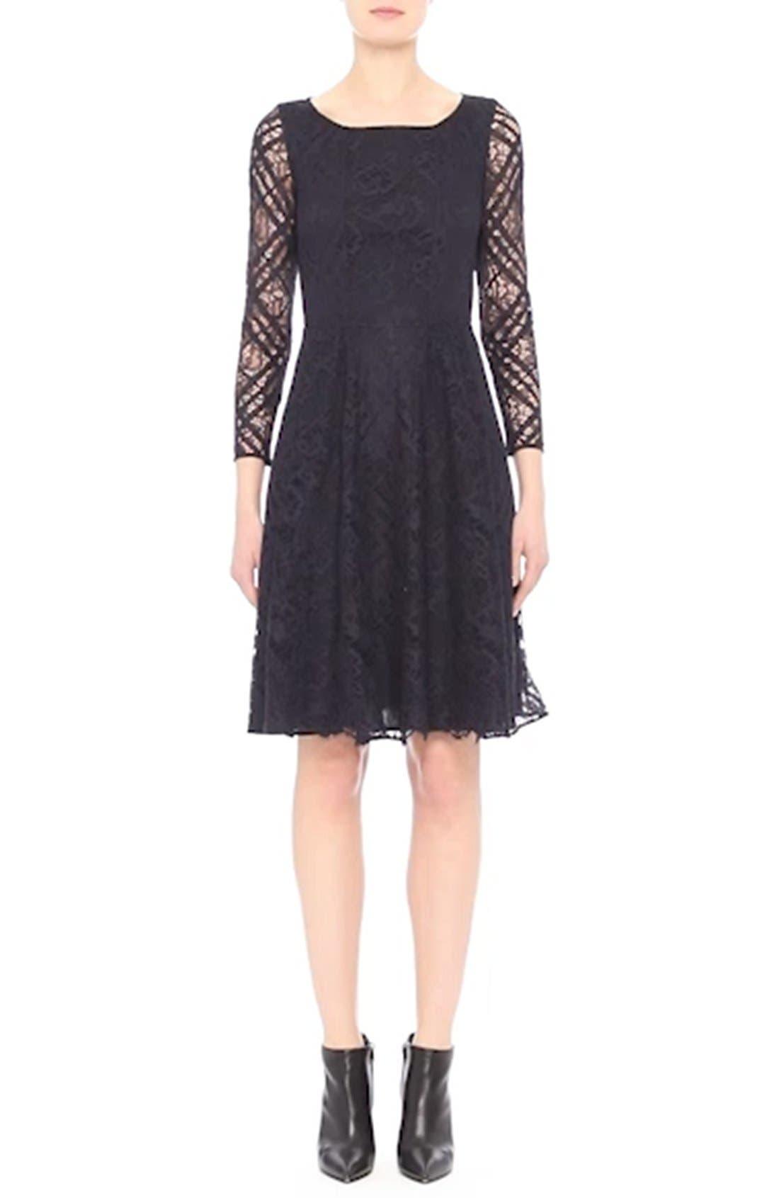 Liliana Lace Fit & Flare Dress,                             Alternate thumbnail 8, color,                             410