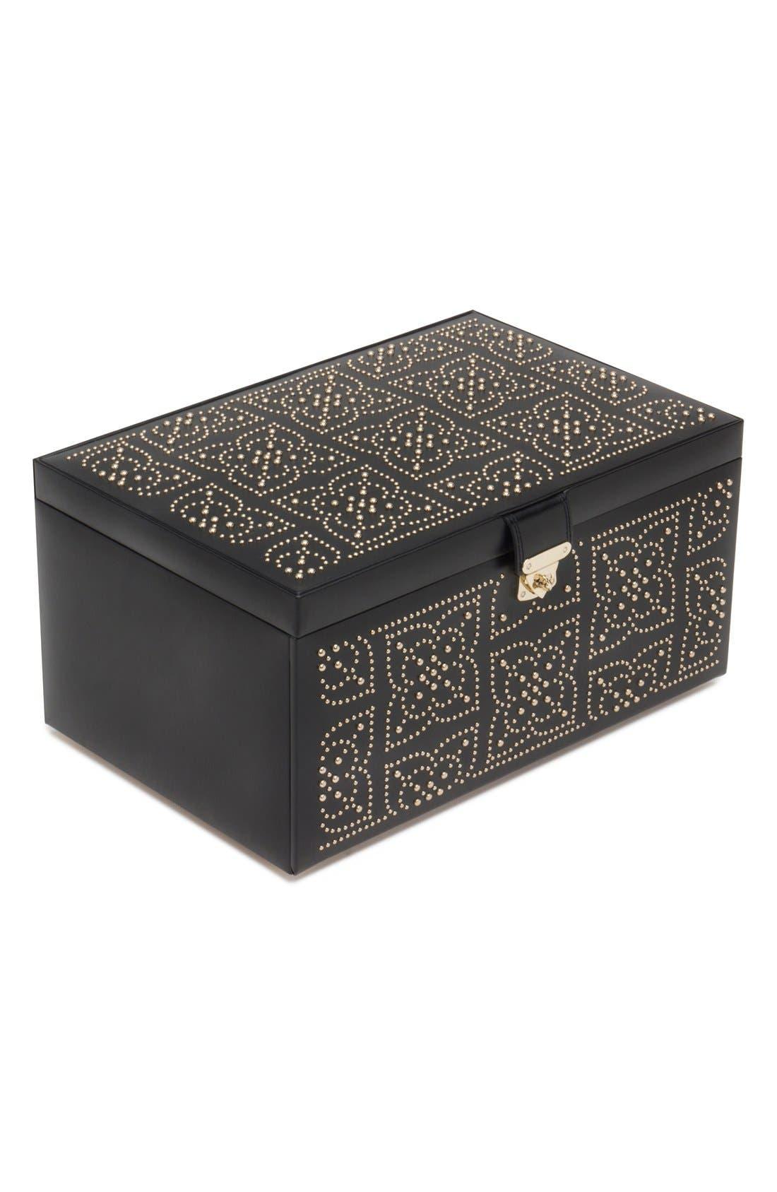'Marrakesh' Jewelry Box,                             Main thumbnail 1, color,                             BLACK