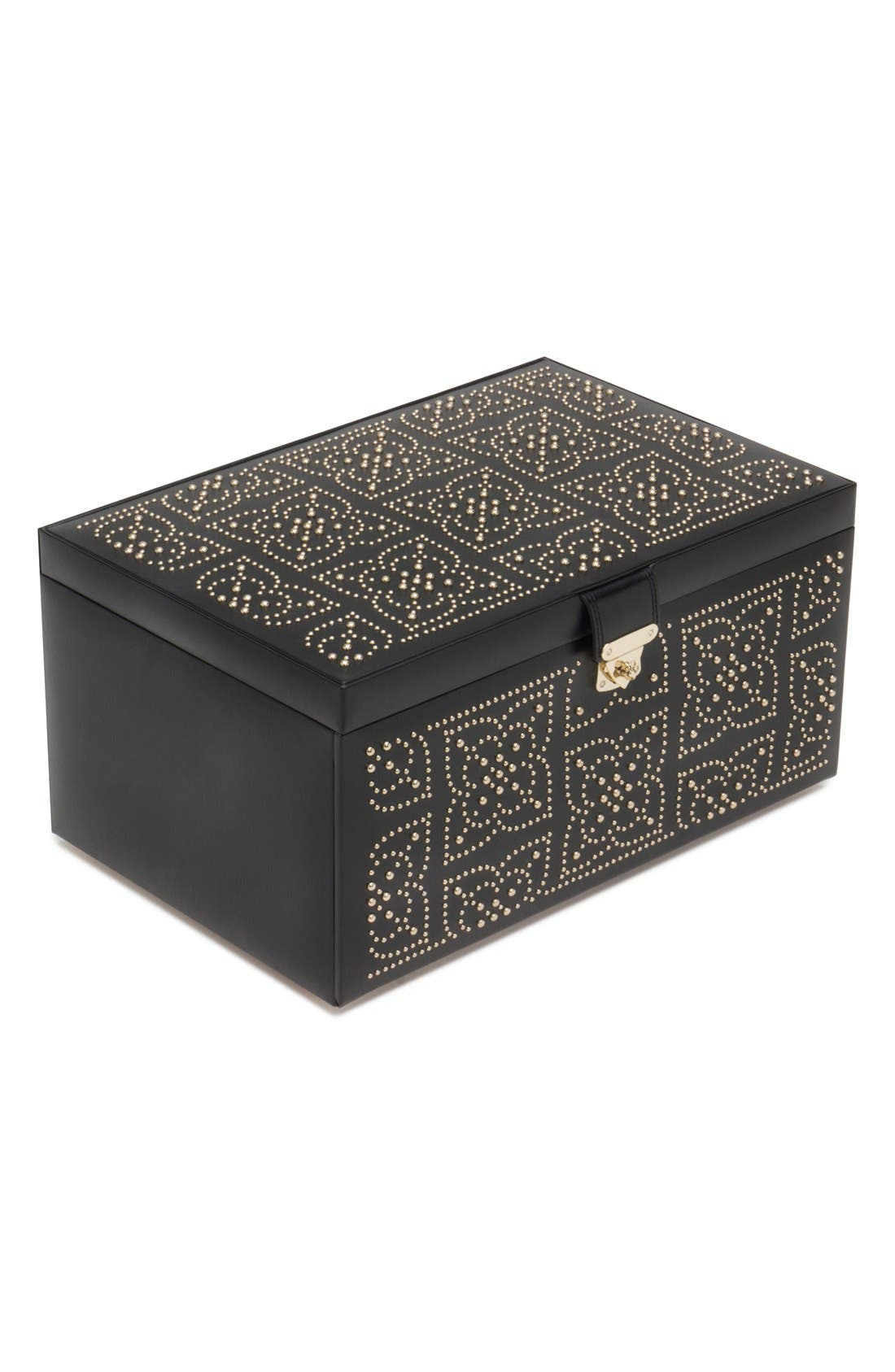 'Marrakesh' Jewelry Box,                         Main,                         color, BLACK
