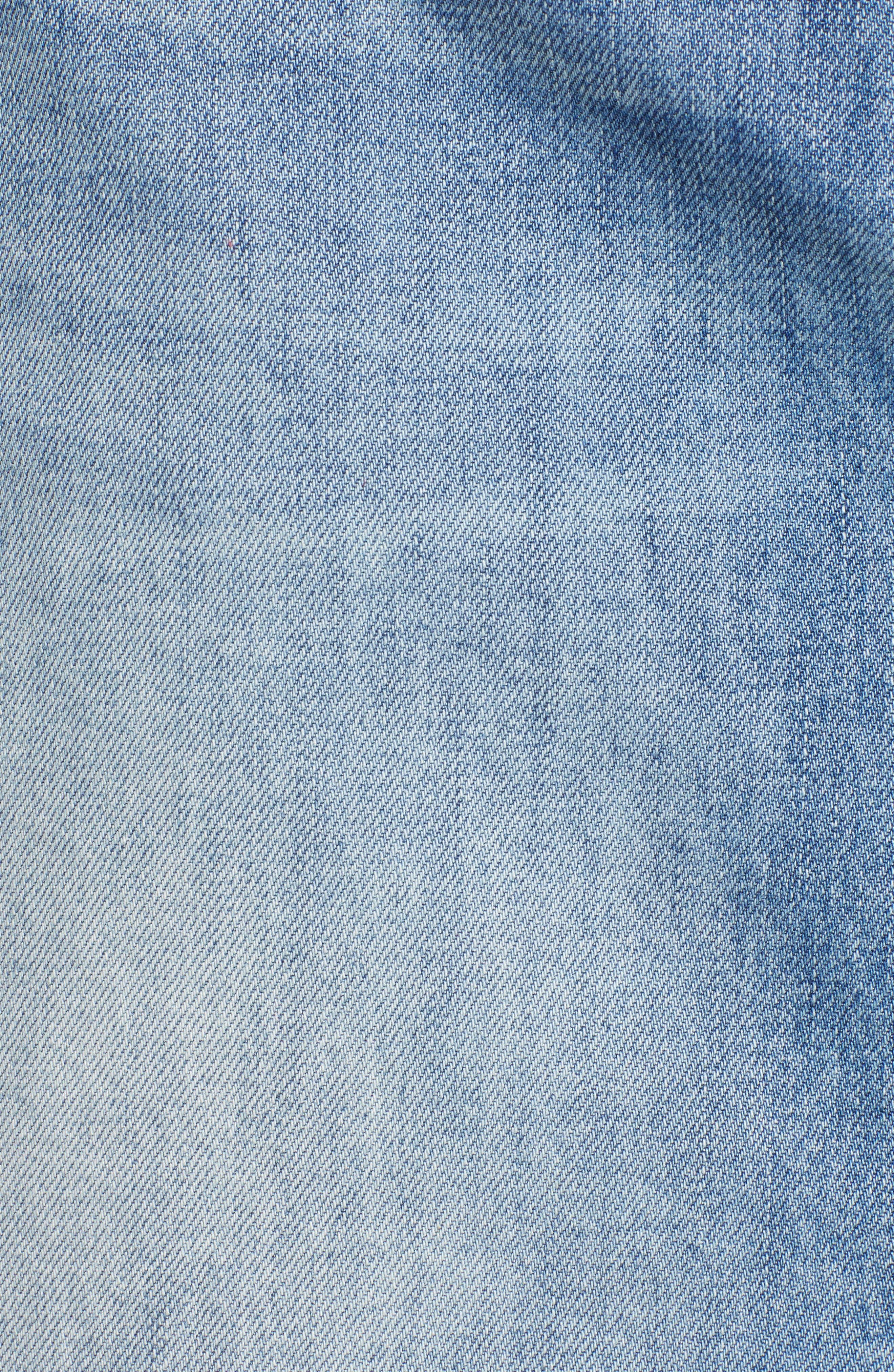 Raw Hem Denim Skirt,                             Alternate thumbnail 6, color,                             420