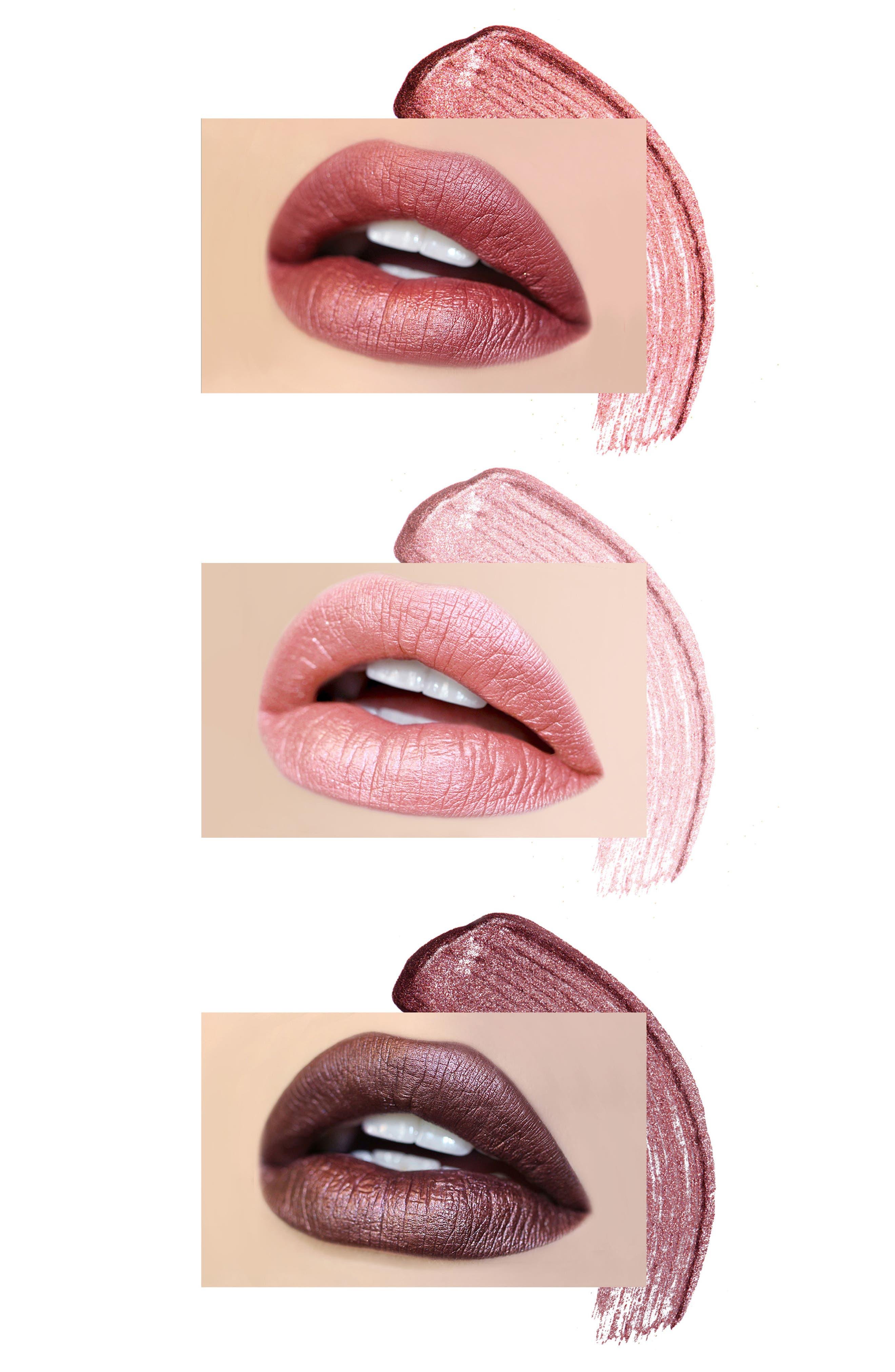 Best of Metallics Mini Long-Wear Lip Crème Liquid Lipstick Collection,                             Alternate thumbnail 5, color,                             000