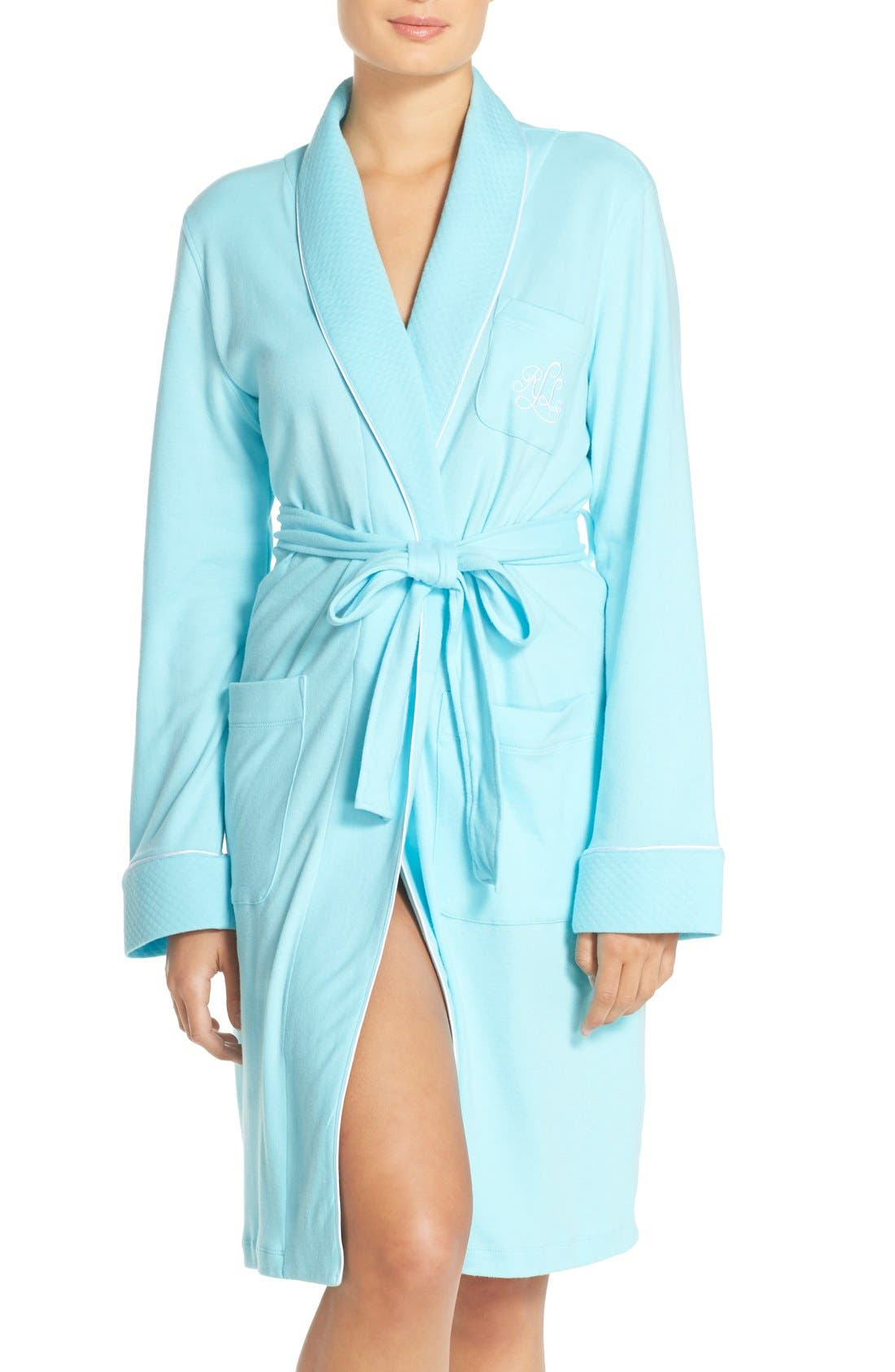 Quilted Collar Robe,                             Main thumbnail 7, color,