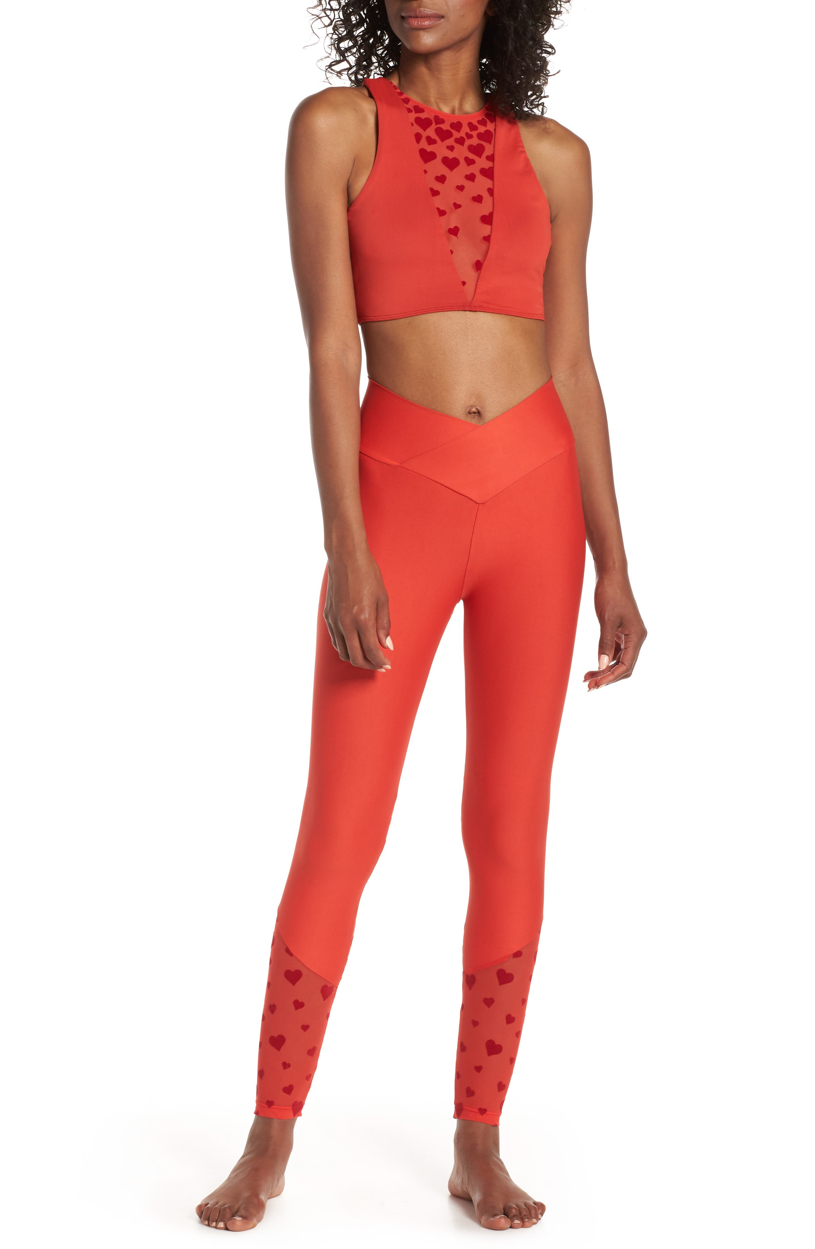 BEACH RIOT,                             Beach Leggings,                             Alternate thumbnail 8, color,                             RED HEART