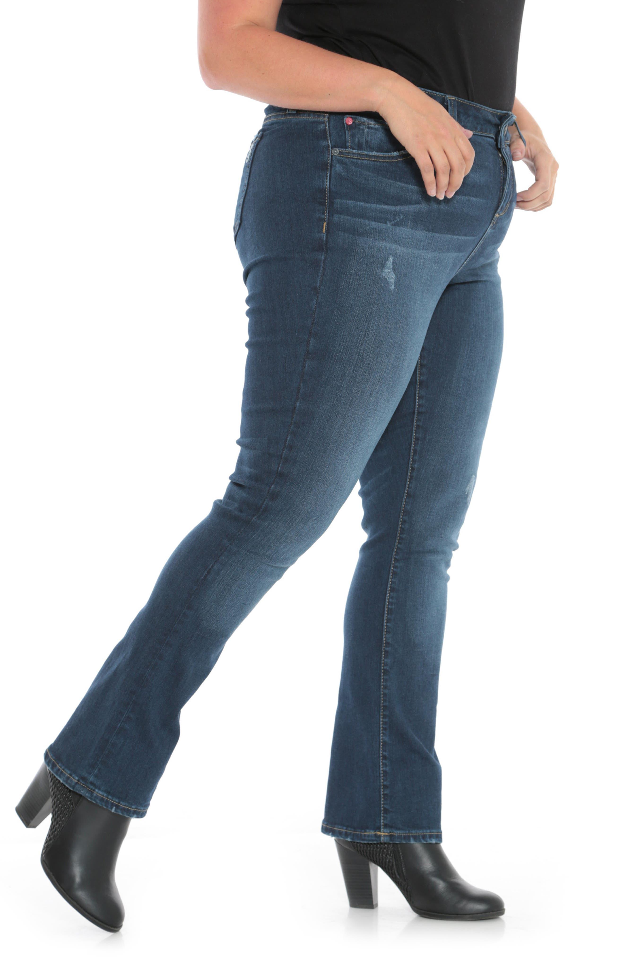 High Waist Crop Bootcut Jeans,                             Alternate thumbnail 3, color,                             SHEELA