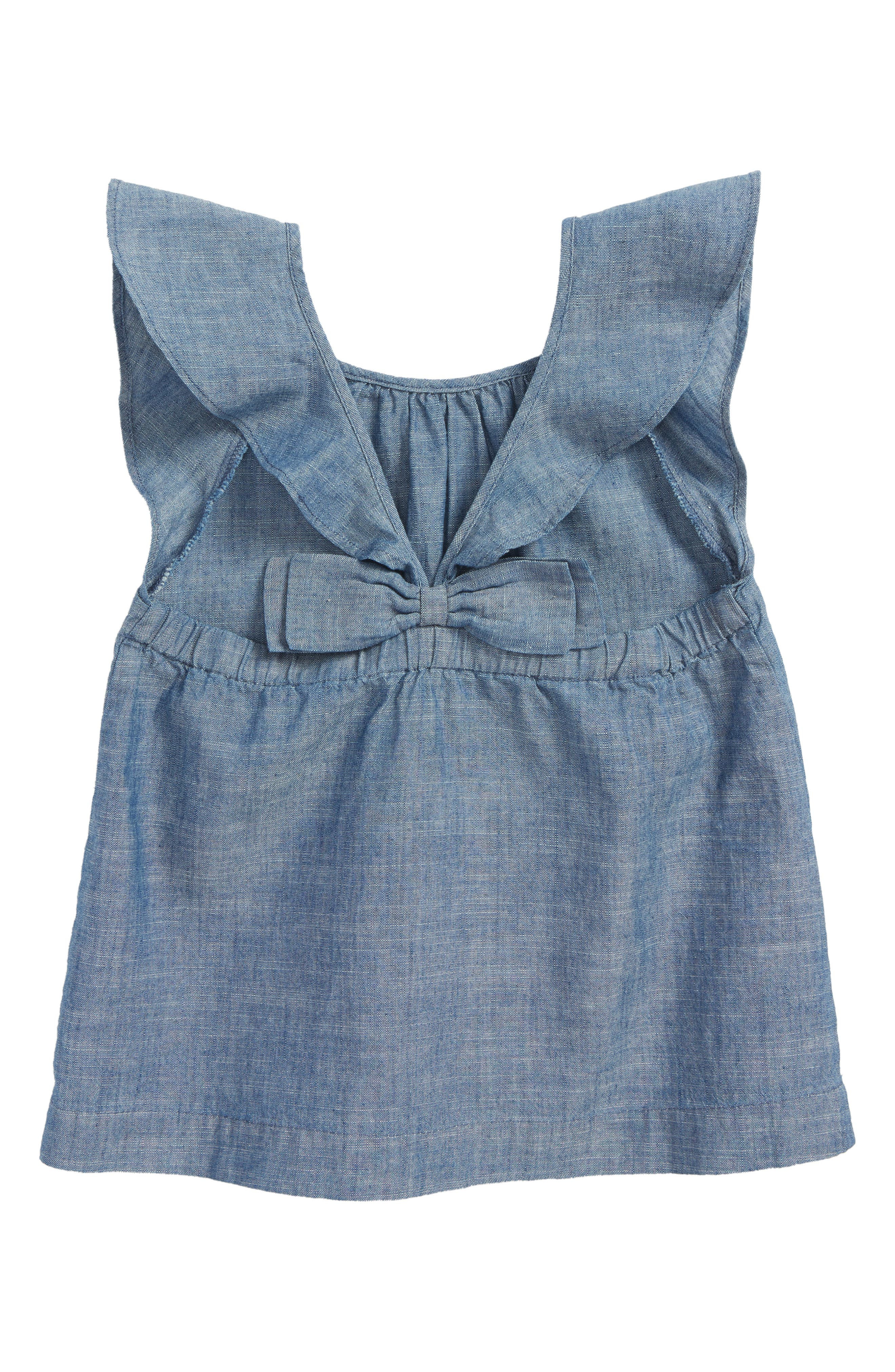 Gale Chambray Top,                             Alternate thumbnail 2, color,
