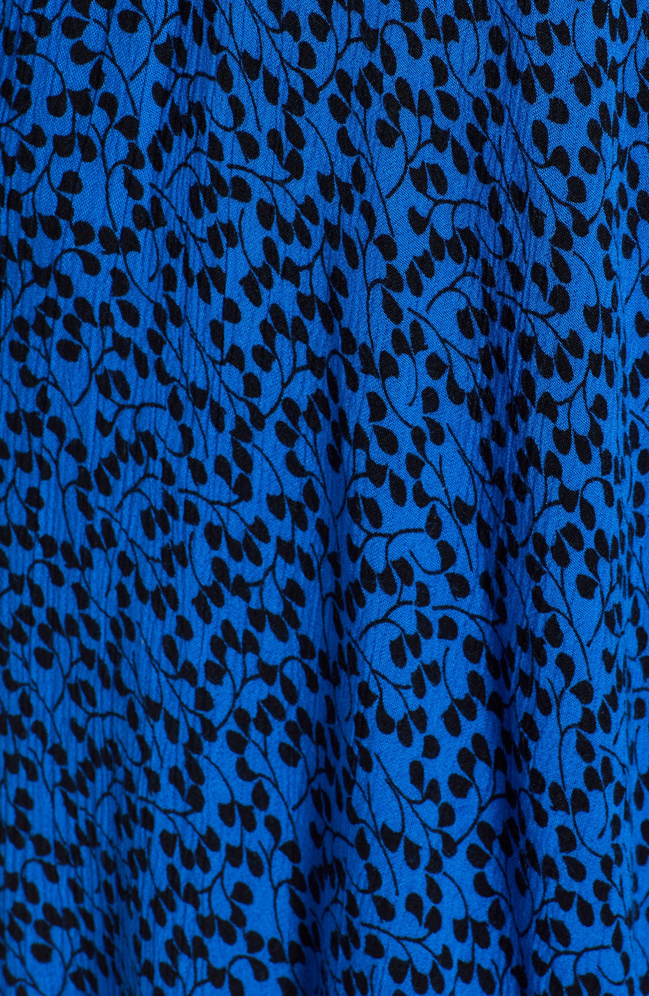 Bali Off The Shoulder Maxi Dress,                             Alternate thumbnail 6, color,                             ROYAL/ BLACK