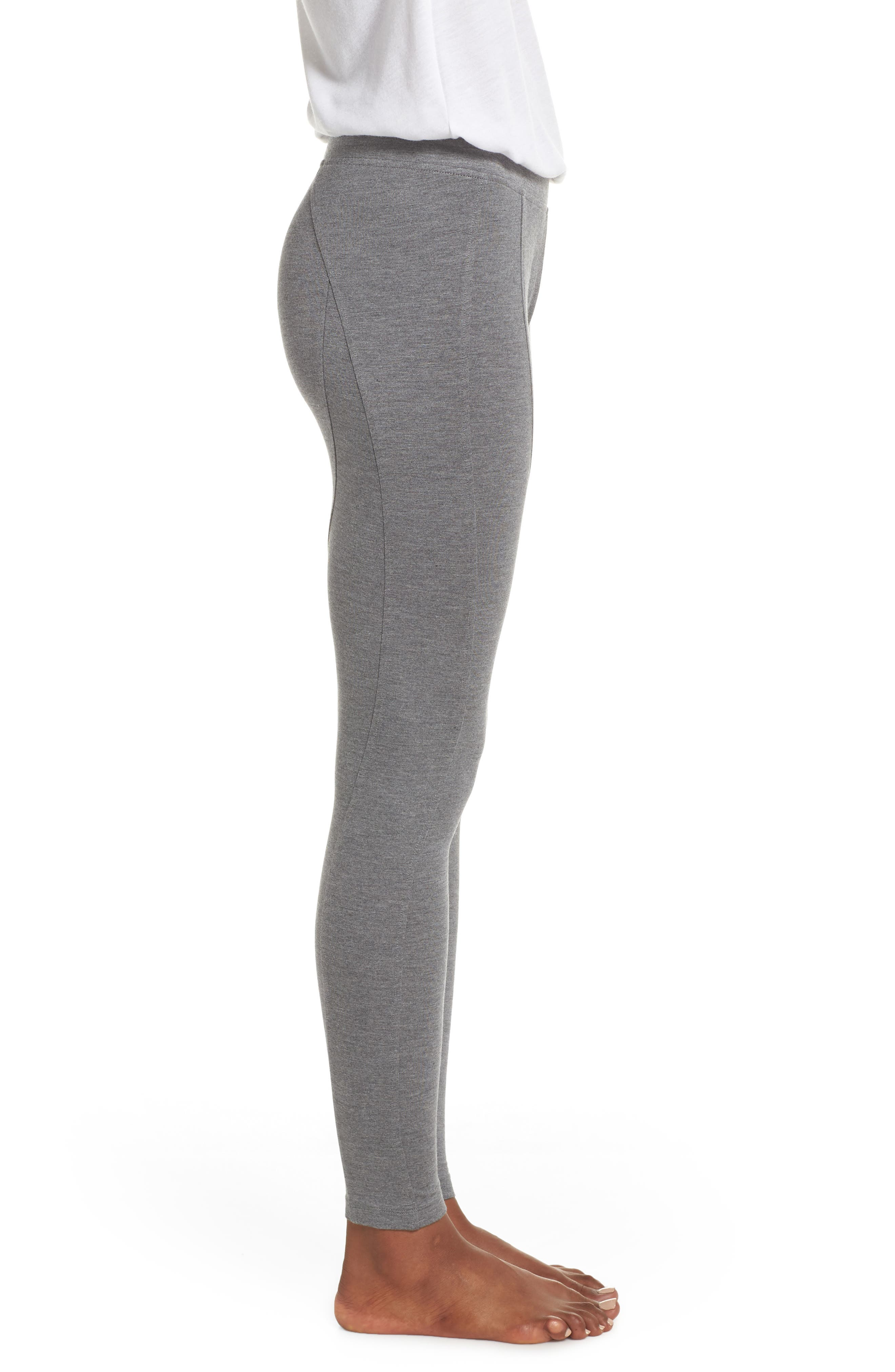'Watts' Terry Leggings,                             Alternate thumbnail 3, color,                             CHARCOAL HEATHER