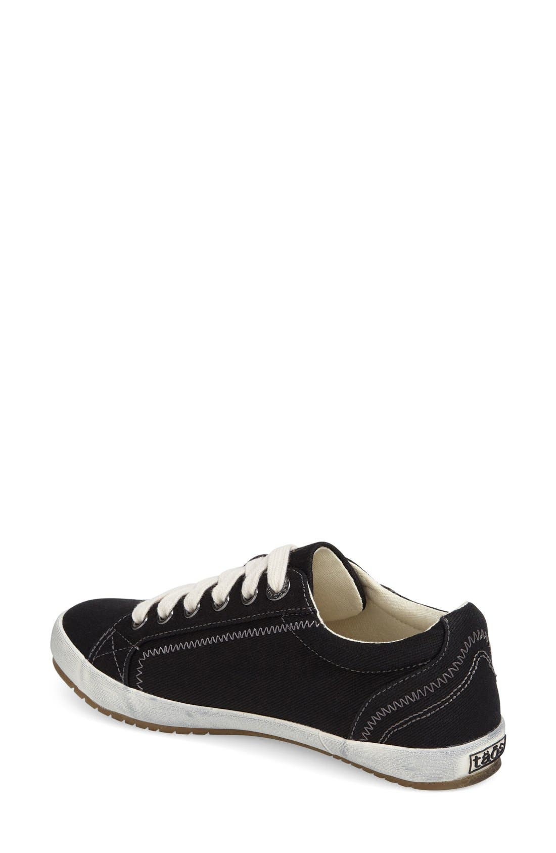 'Star' Sneaker,                             Alternate thumbnail 7, color,                             BLACK CANVAS
