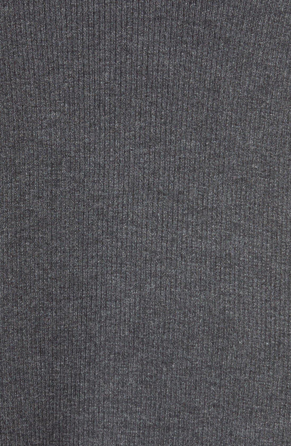 HALOGEN<SUP>®</SUP>,                             Side Slit V-Neck Ribbed Tunic Sweater,                             Alternate thumbnail 3, color,                             021