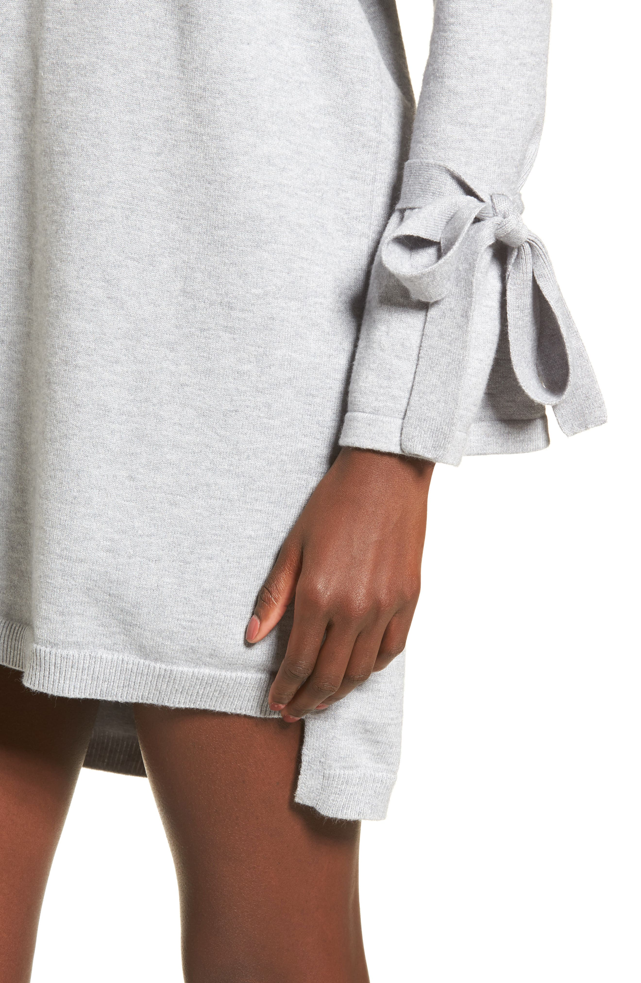 Tie Sleeve Sweater Dress,                             Alternate thumbnail 4, color,                             038