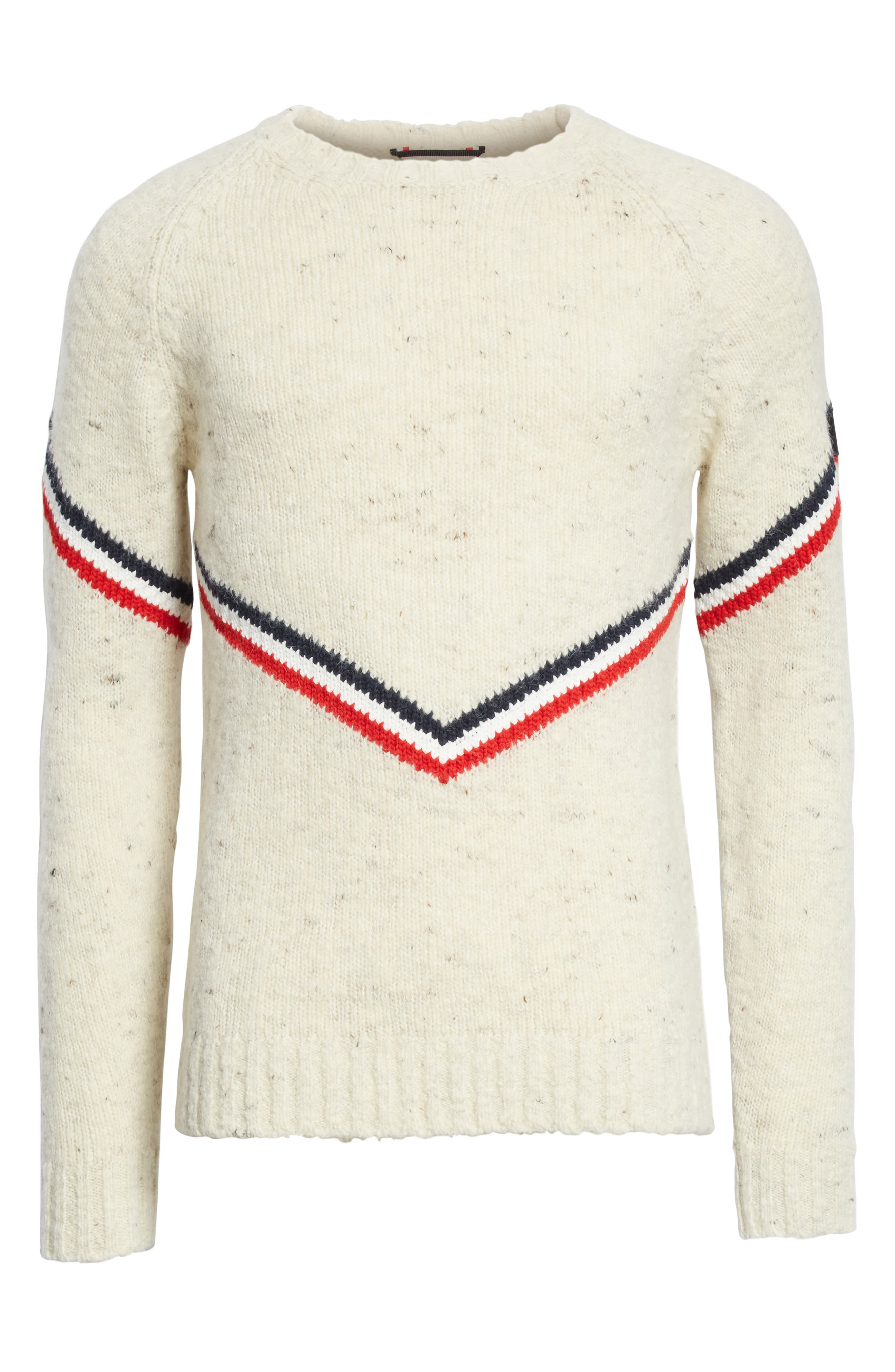 Stripe Donegal Crewneck Sweater,                             Alternate thumbnail 6, color,                             900