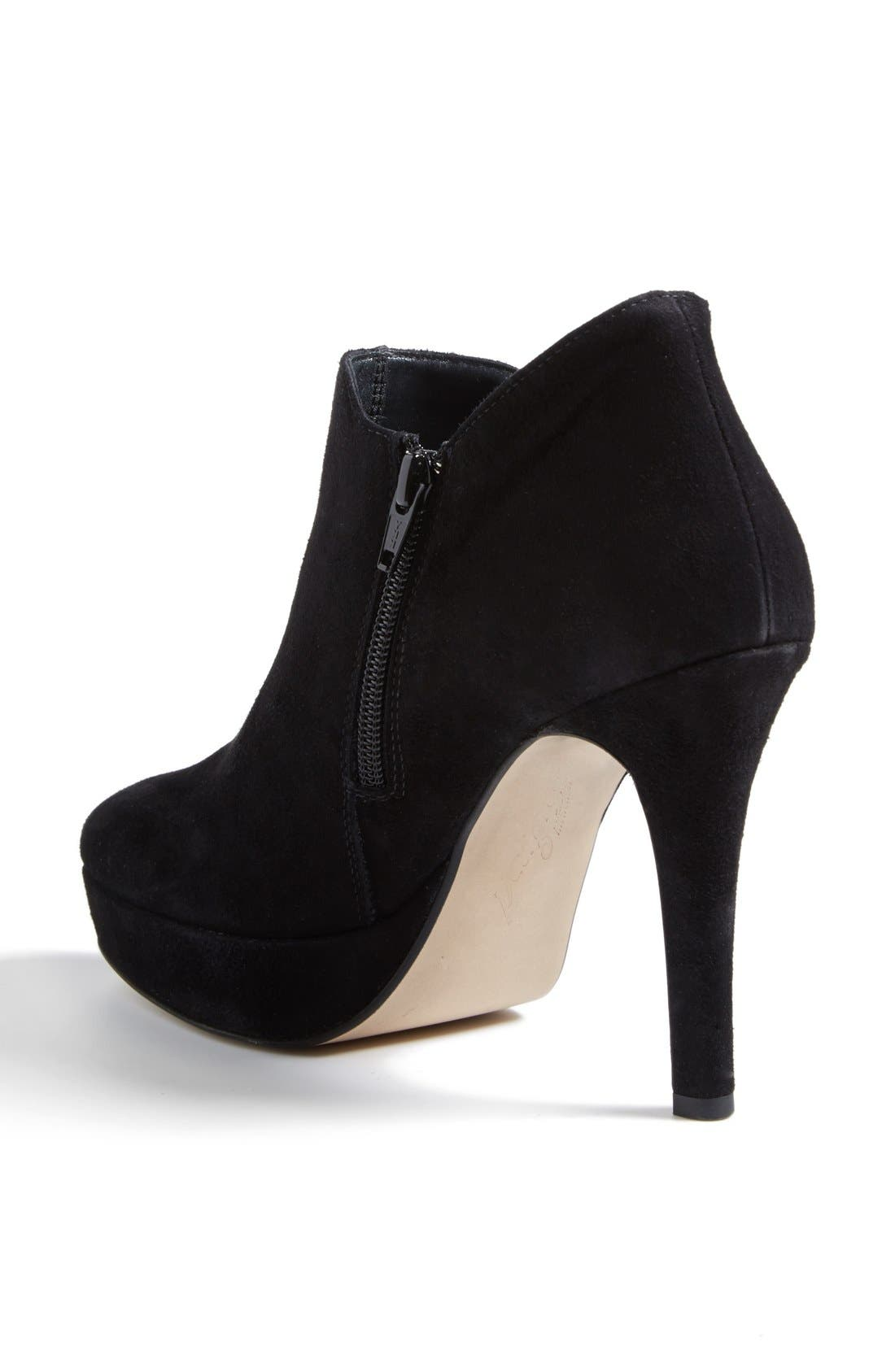 'Astaire' Suede Platform Bootie,                             Alternate thumbnail 2, color,                             002