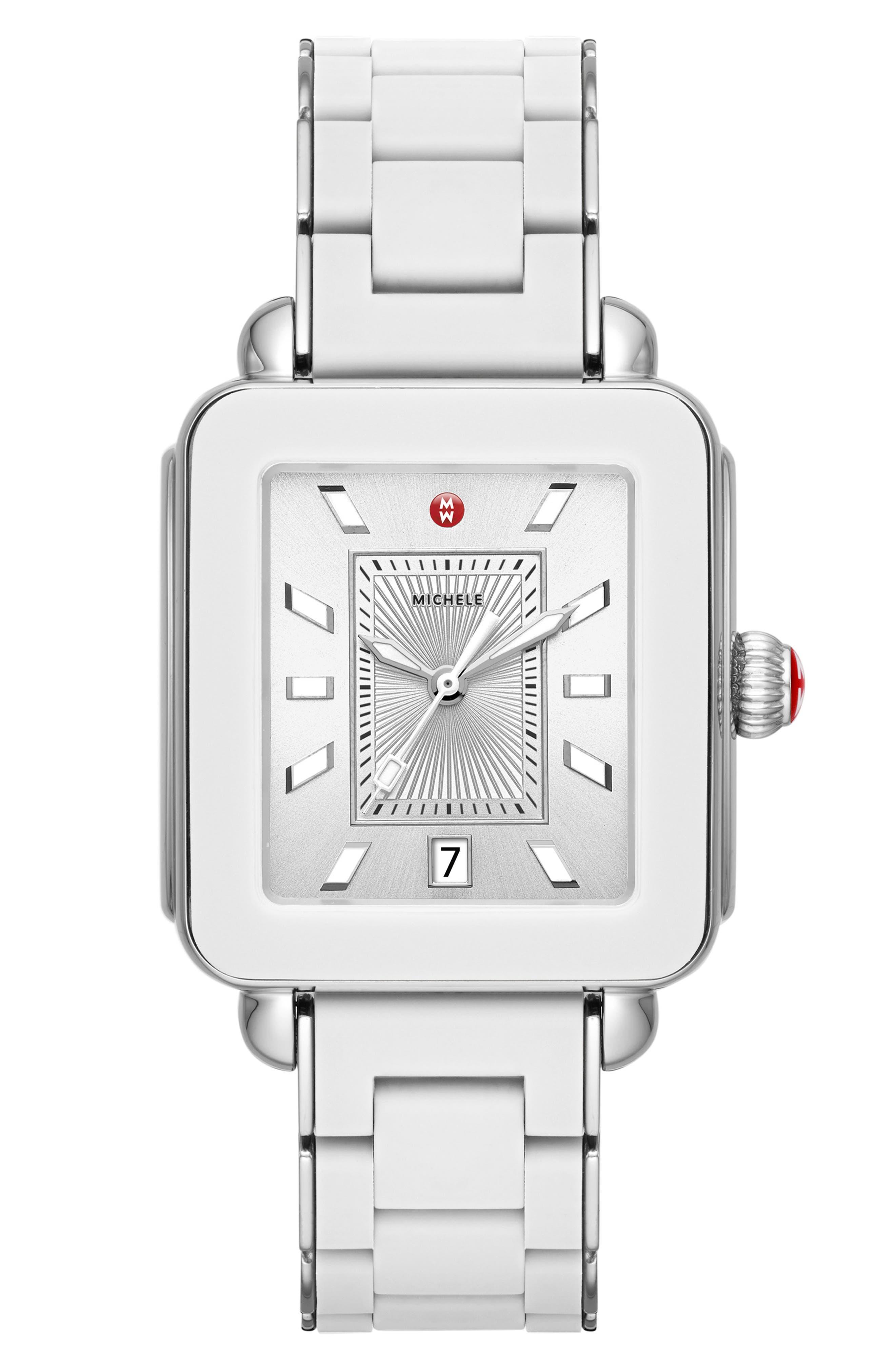 Deco Sport Bracelet Watch, 34mm x 36mm, Main, color, 100