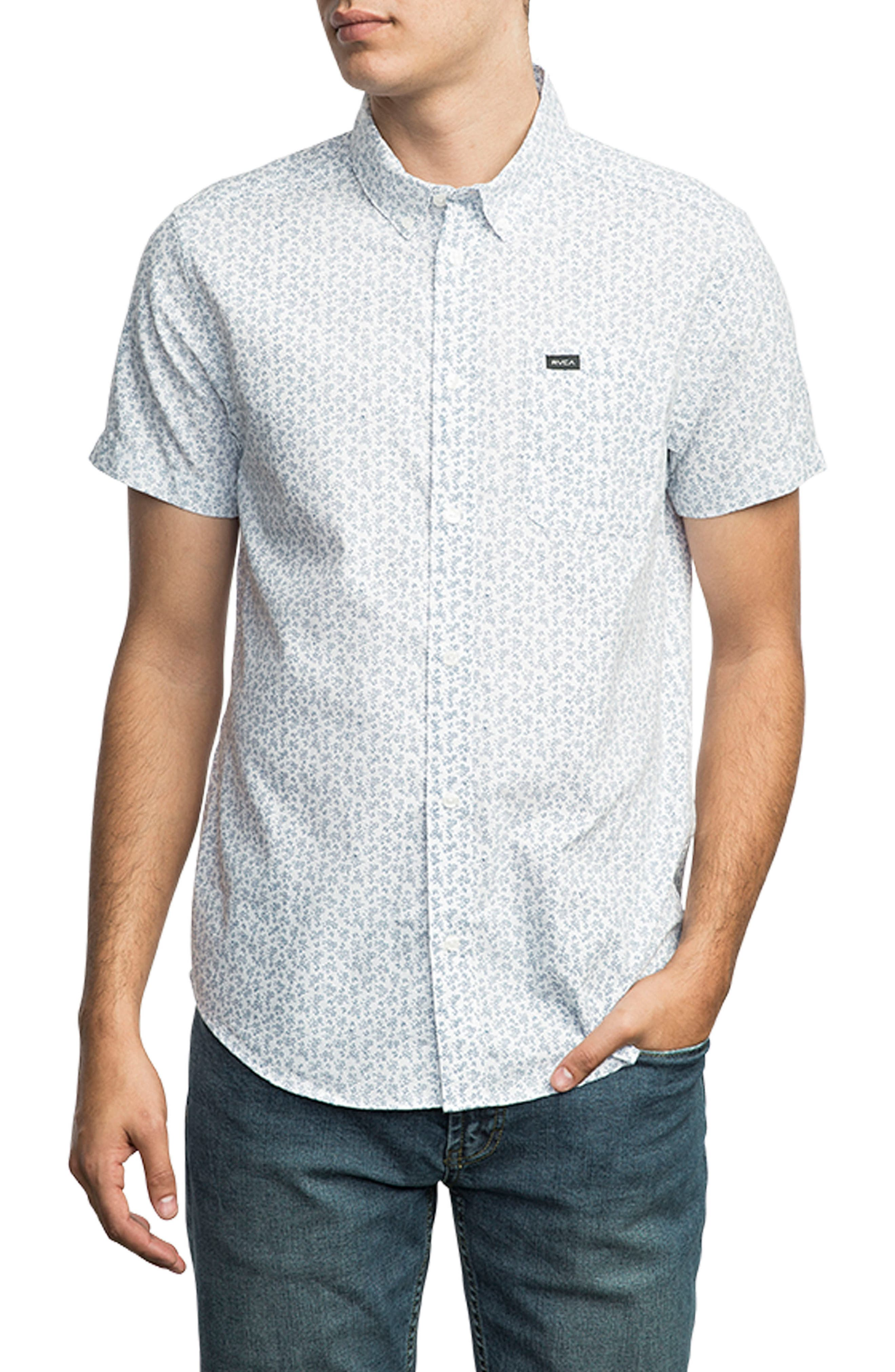 That'll Do Floral Woven Shirt,                         Main,                         color, 100