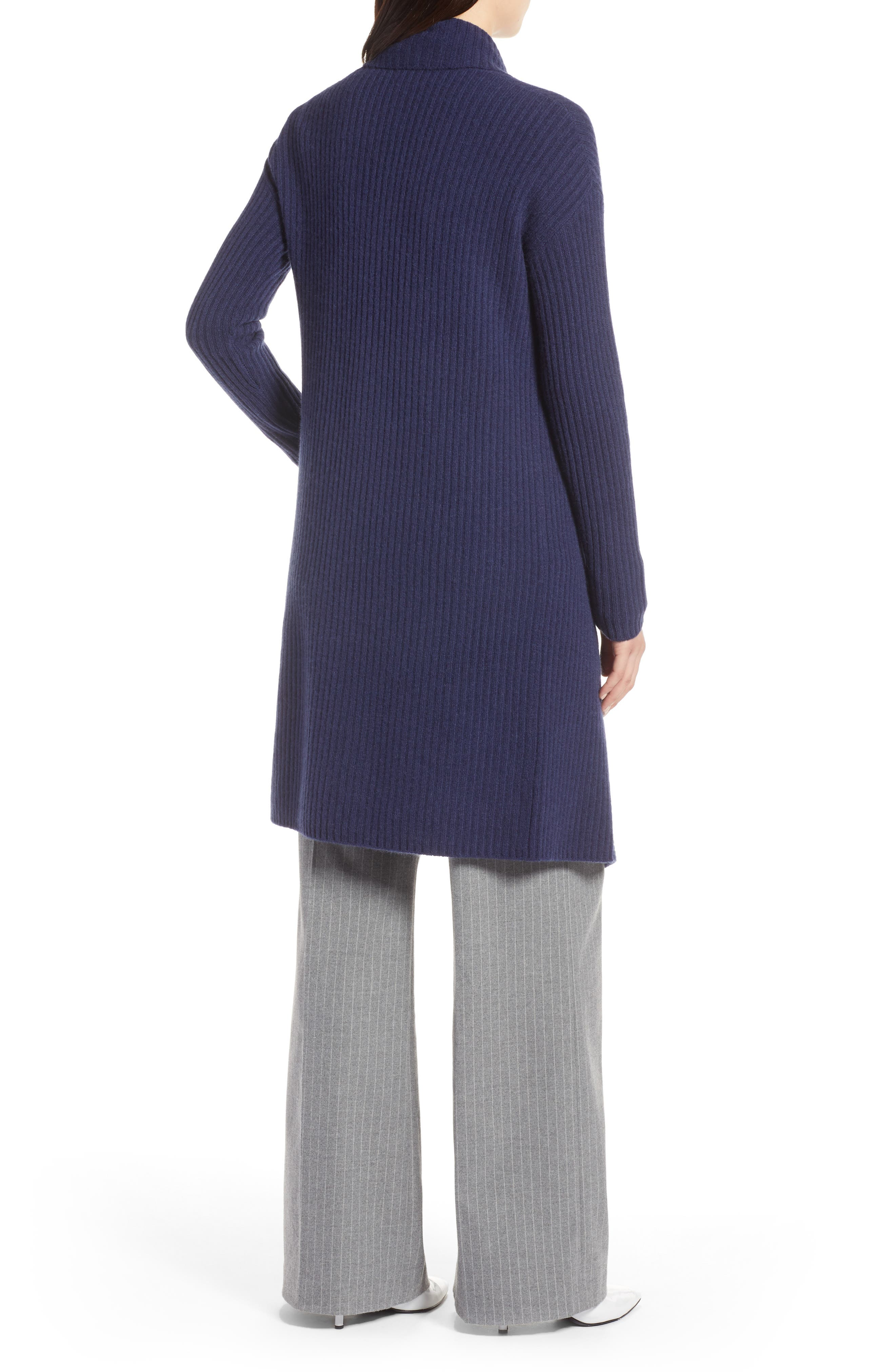 Long Ribbed Cashmere Cardigan,                             Alternate thumbnail 2, color,                             410