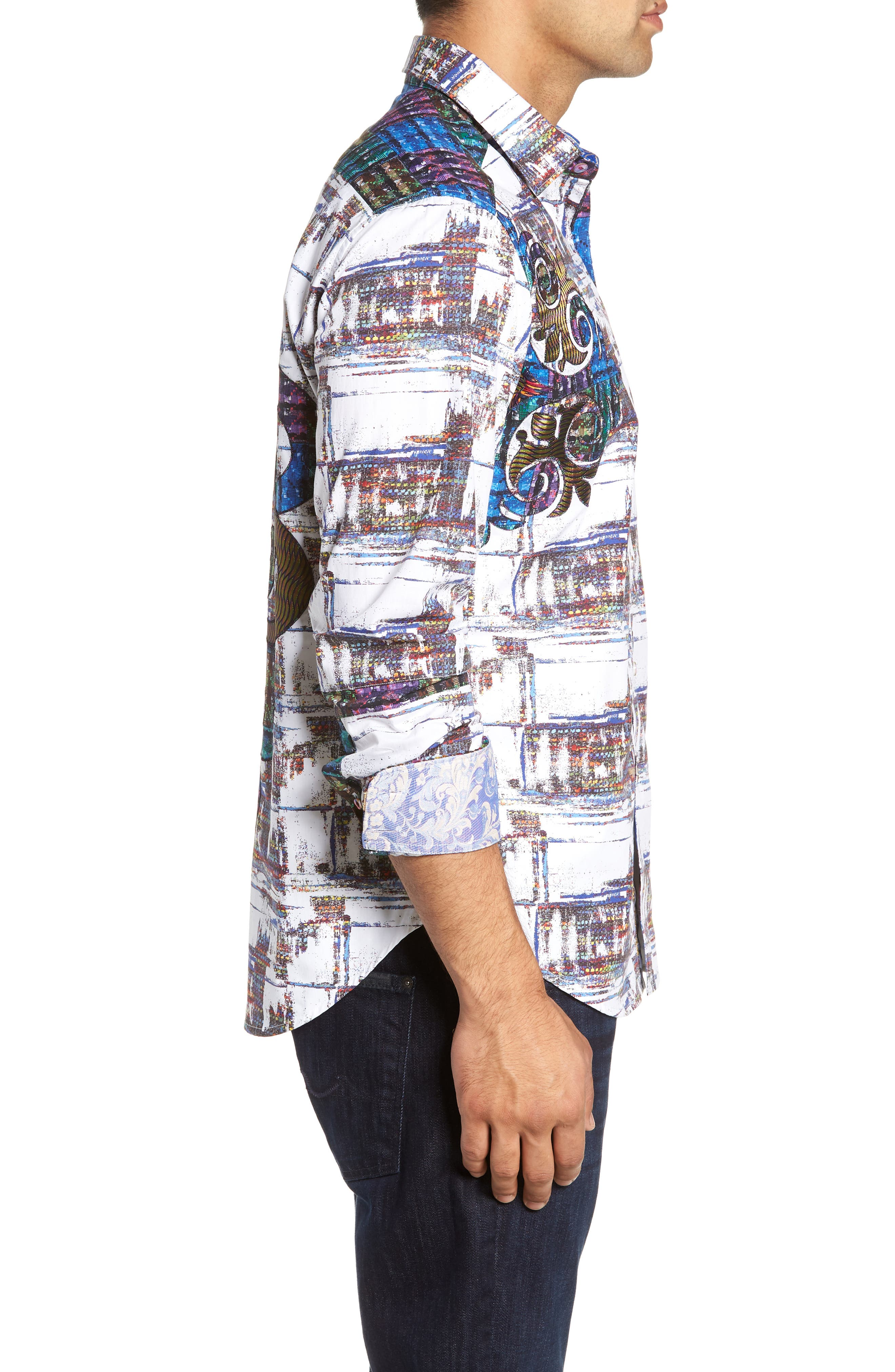 Distinct Palate Limited Edition Classic Fit Sport Shirt,                             Alternate thumbnail 5, color,                             MULTI