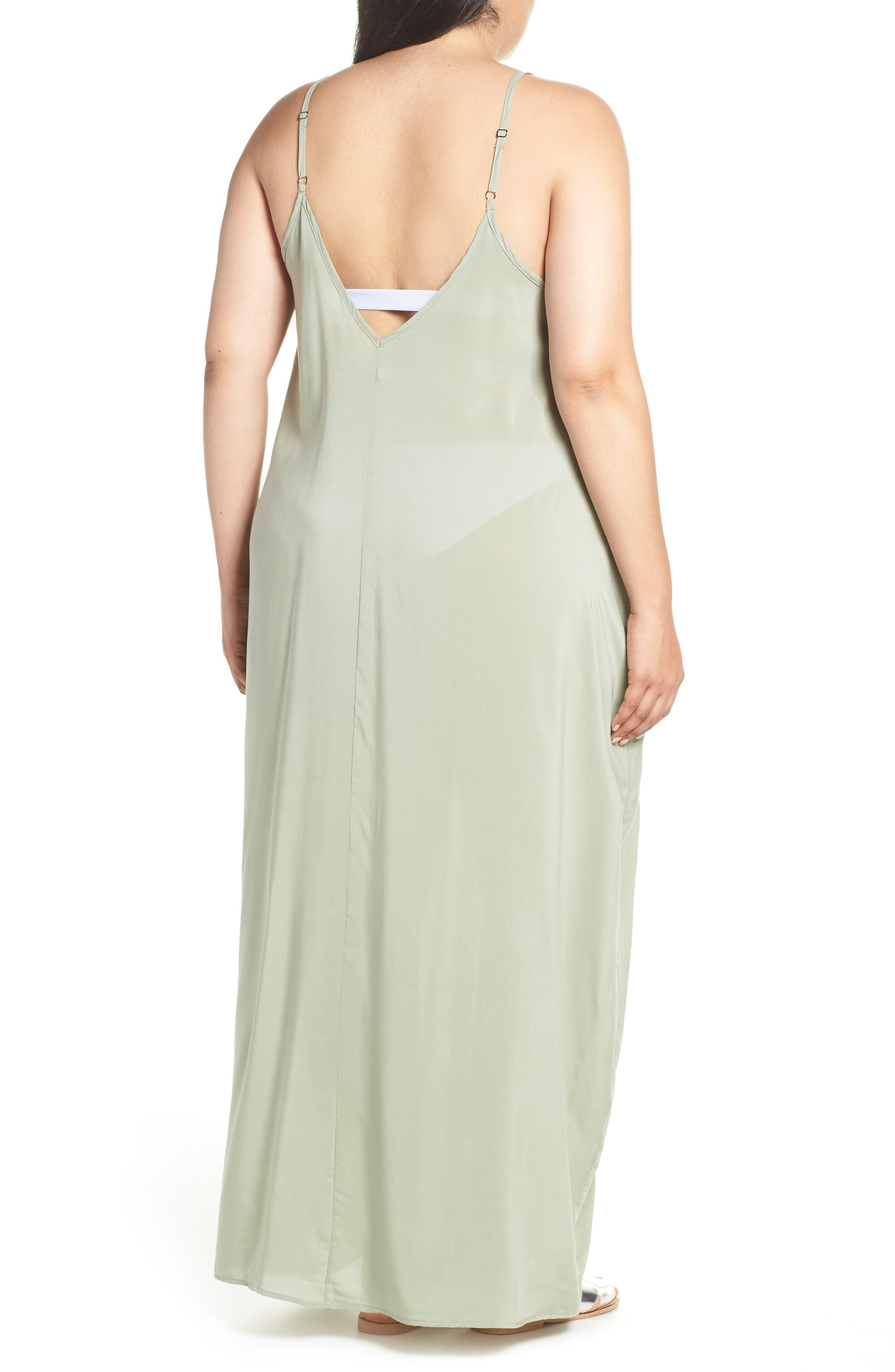 Cover-Up Maxi Dress,                             Alternate thumbnail 2, color,                             SAGE