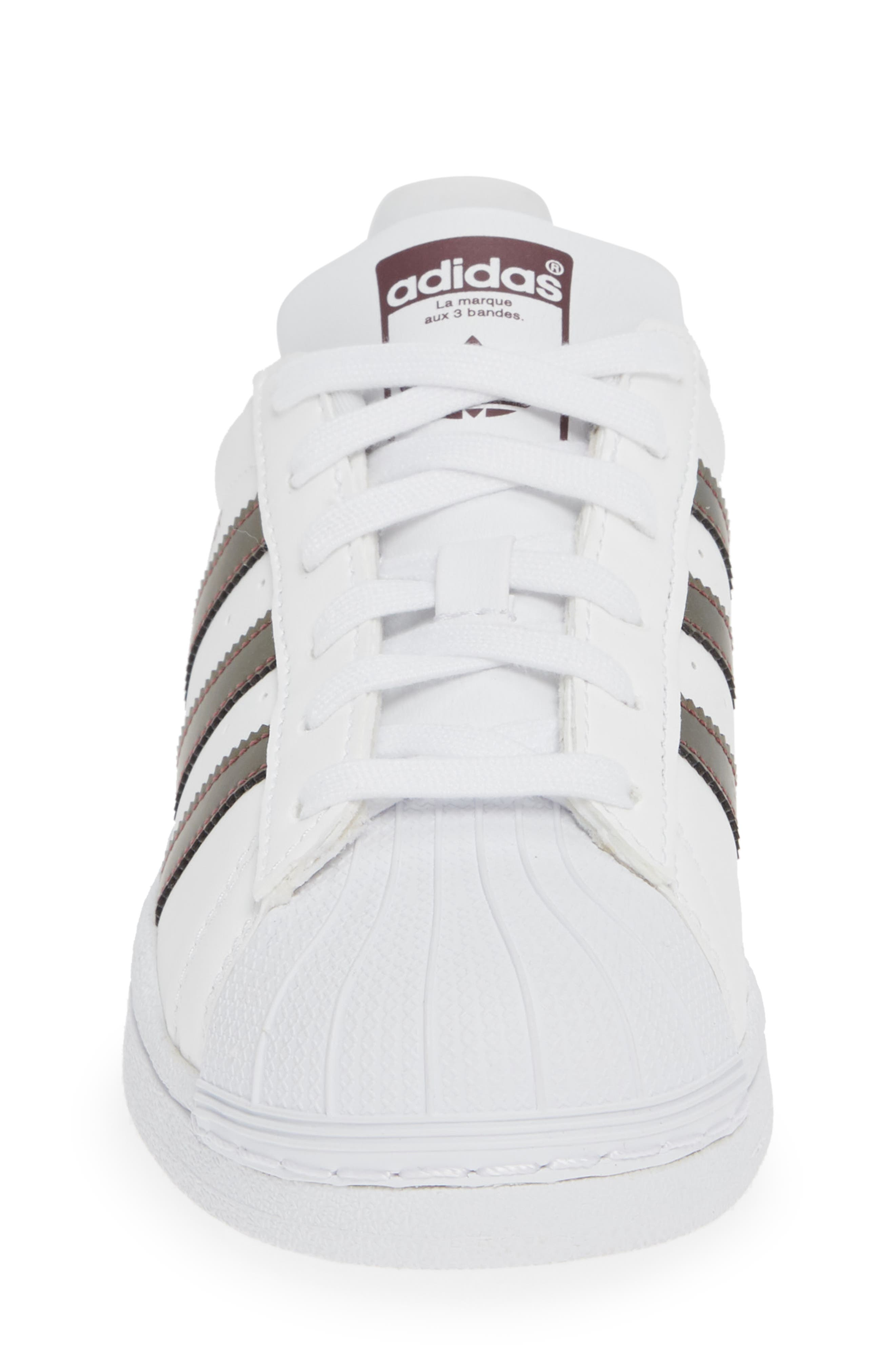'Superstar II' Sneaker,                             Alternate thumbnail 4, color,                             FOOTWEAR WHITE/COPPER